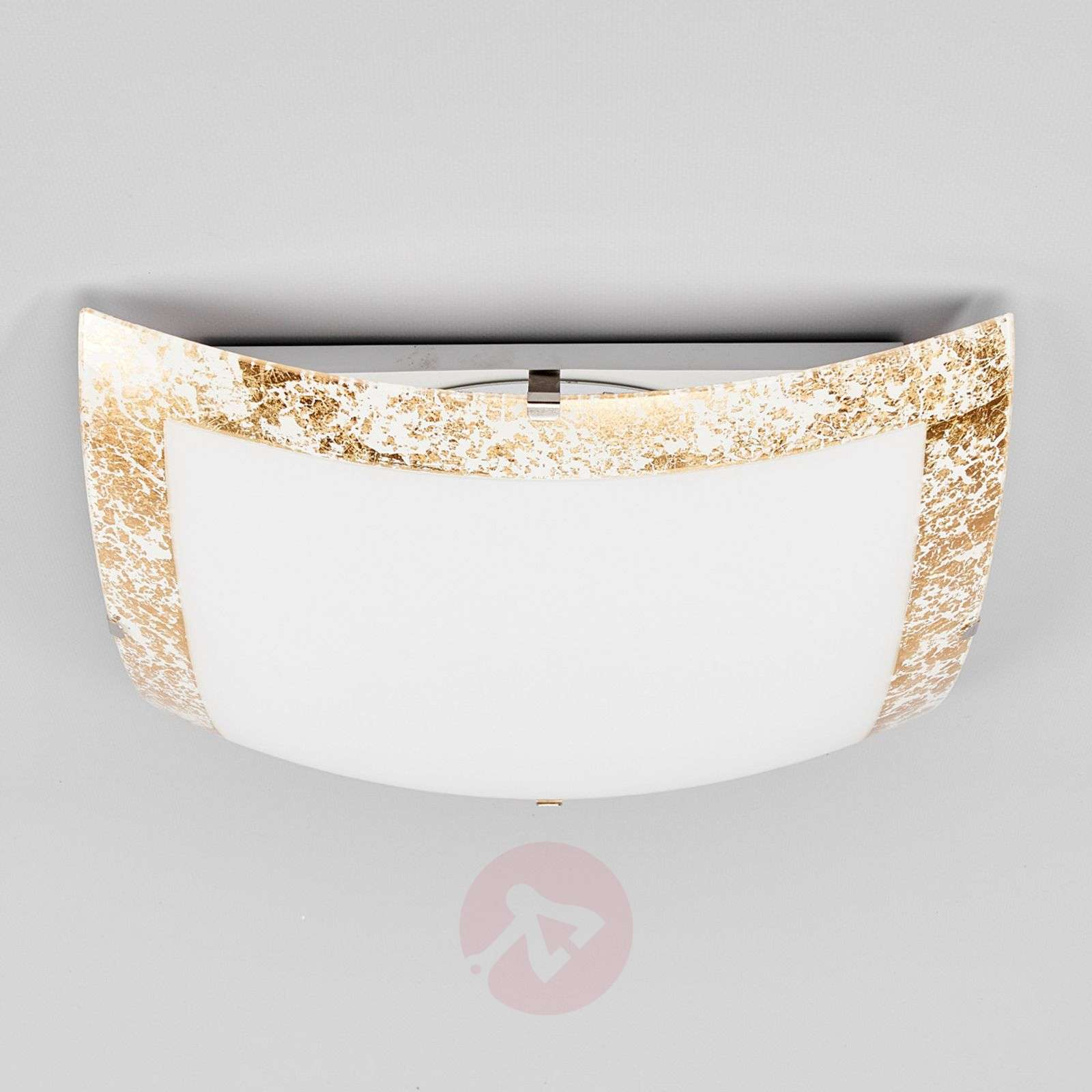 Mirella LED ceiling light with a gold border-9625035-01