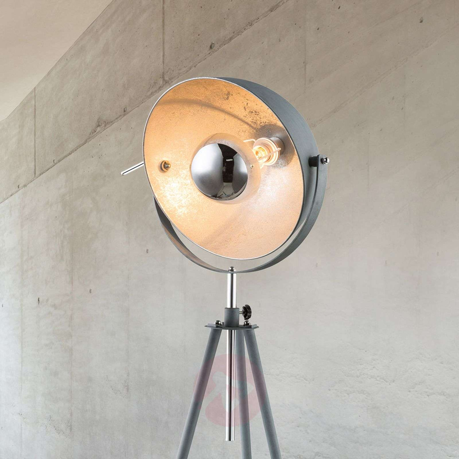Miriam Tripod Floor Lamp With A Concrete Look Lights Co Uk