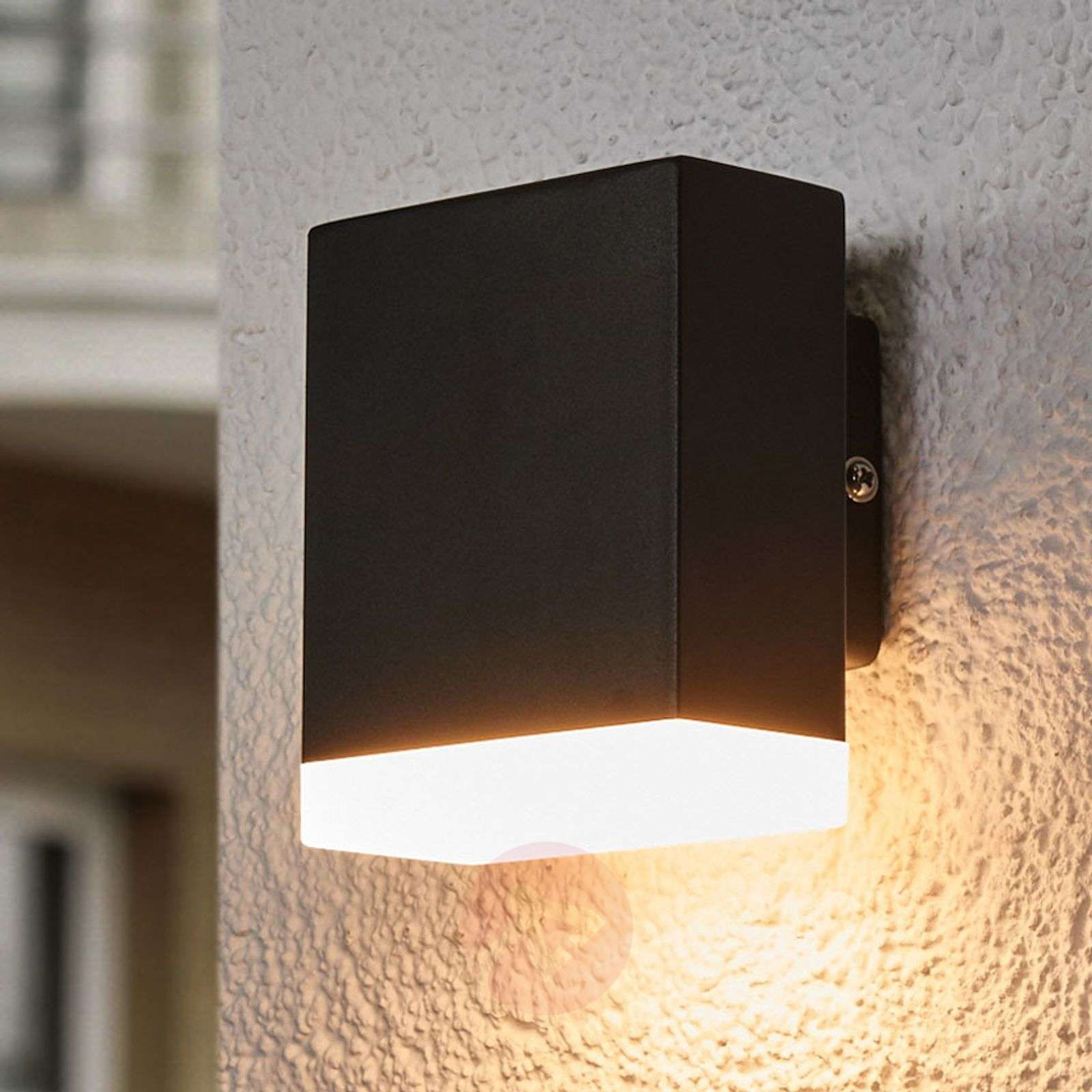 Modern LED outdoor wall l& Aya in black-9988100-02 ... & Modern LED outdoor wall lamp Aya in black | Lights.co.uk