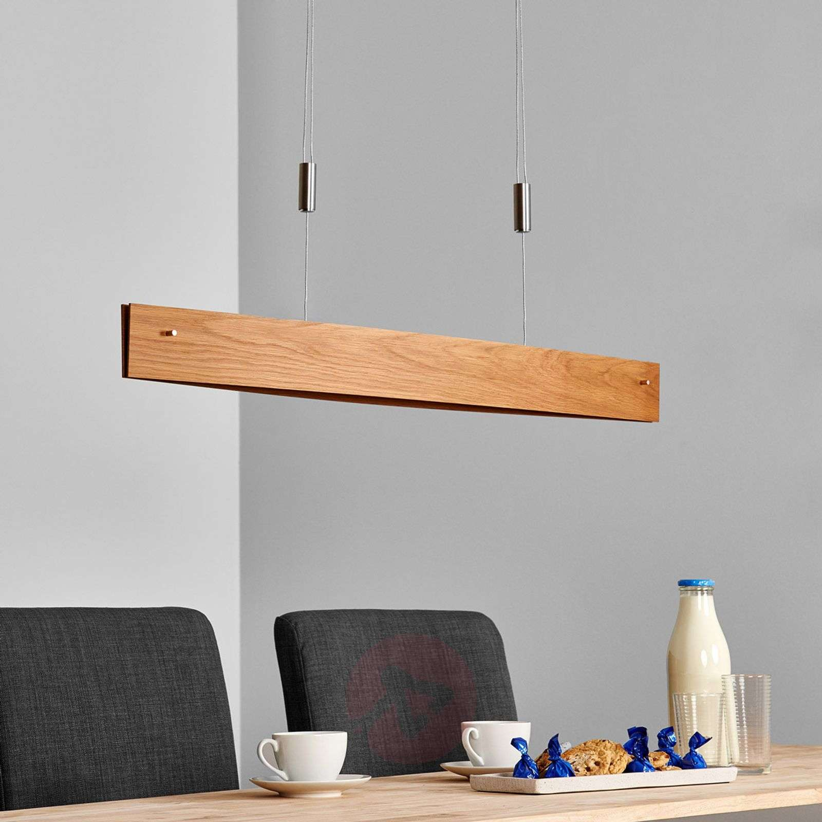 natural oak led pendant light malu made of wood. Black Bedroom Furniture Sets. Home Design Ideas
