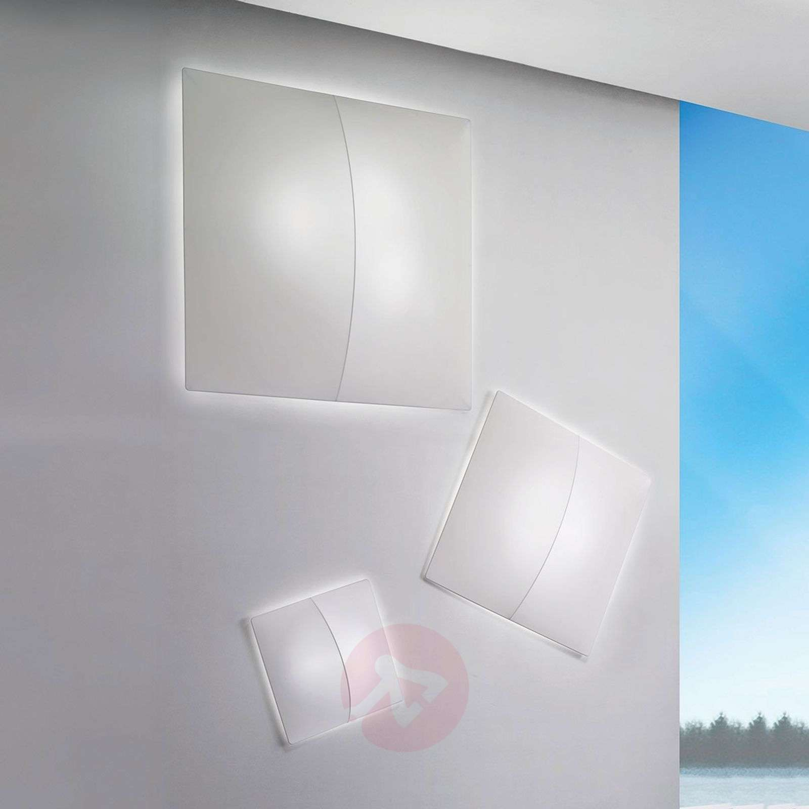 Nelly S square wall light with fabric-1088024X-01