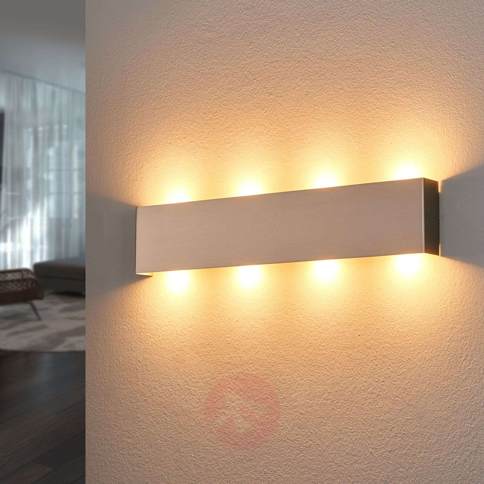 Nickel coloured maja led wall light 54 cm lights nickel coloured maja led wall light 54 cm 6722153 01 aloadofball Images