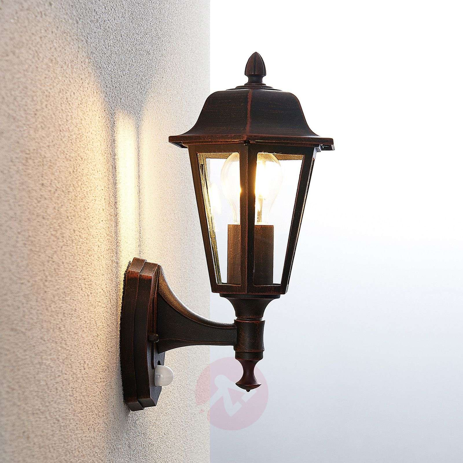 Noor Outdoor Wall Light With A Motion Detector Lights Co Uk