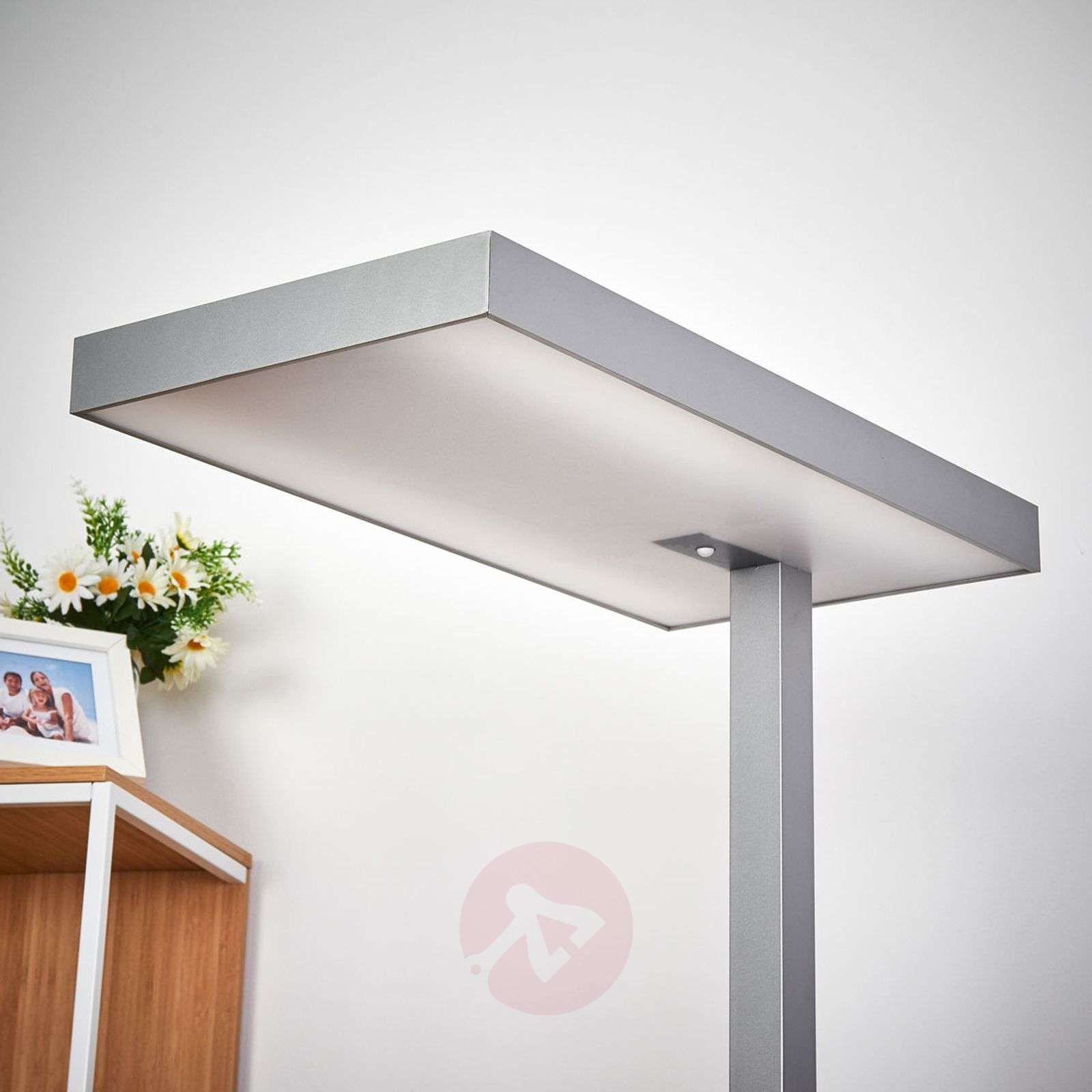 Office led floor lamp nora with motion detector lightscouk for Led floor lamps for office