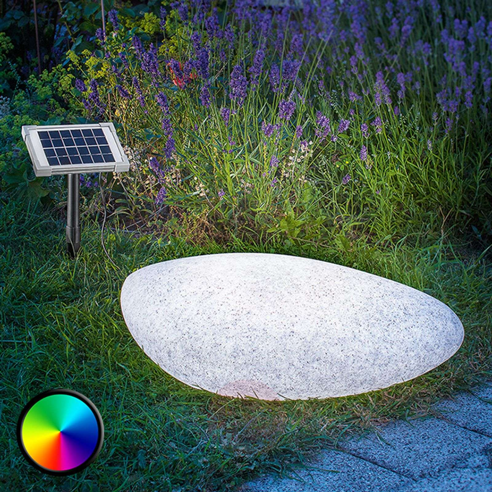 Outdoor decorative light solar LED Stone 40 | Lights.co.uk