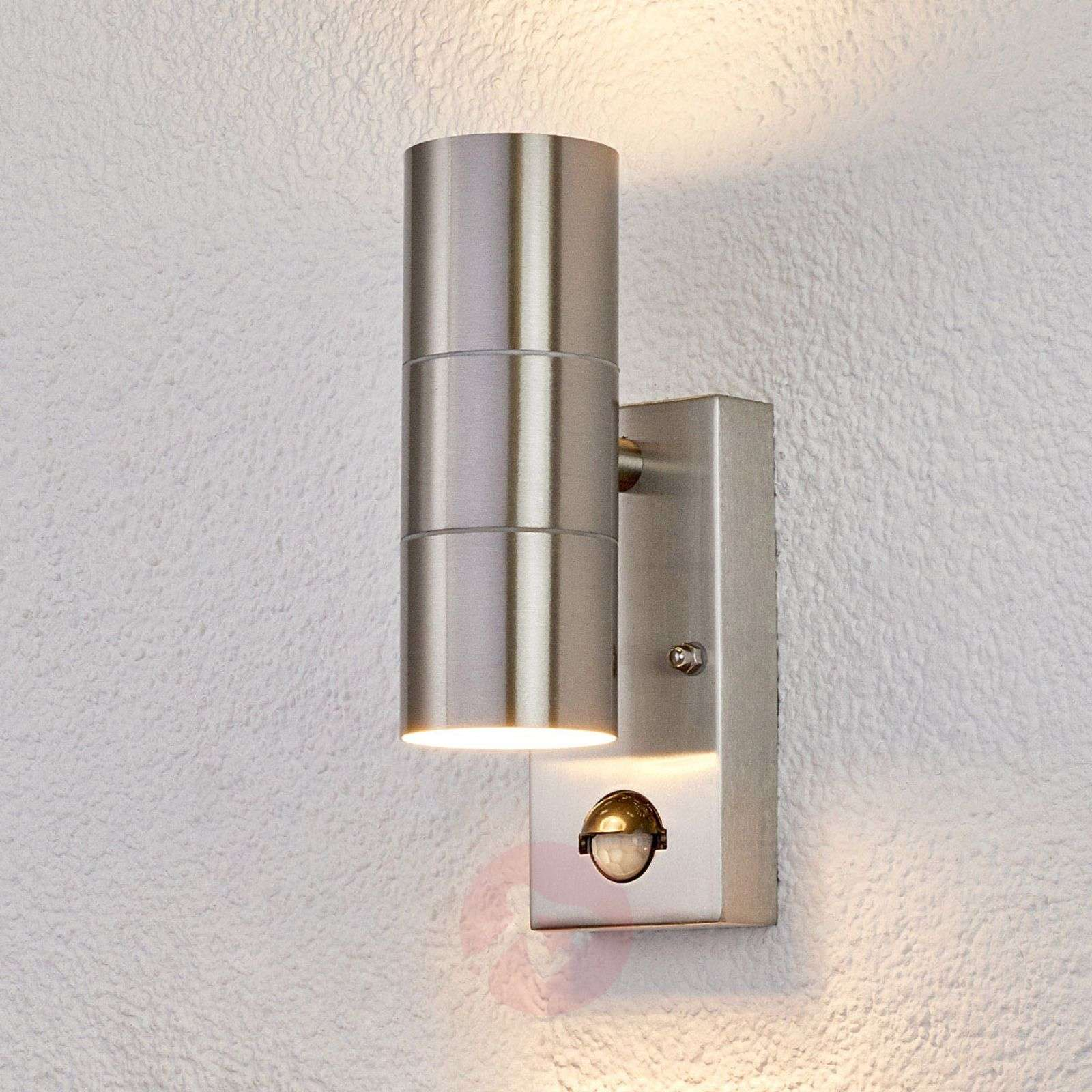 Outdoor Wall Light Eyrin With Motion Detector Lights Co Uk