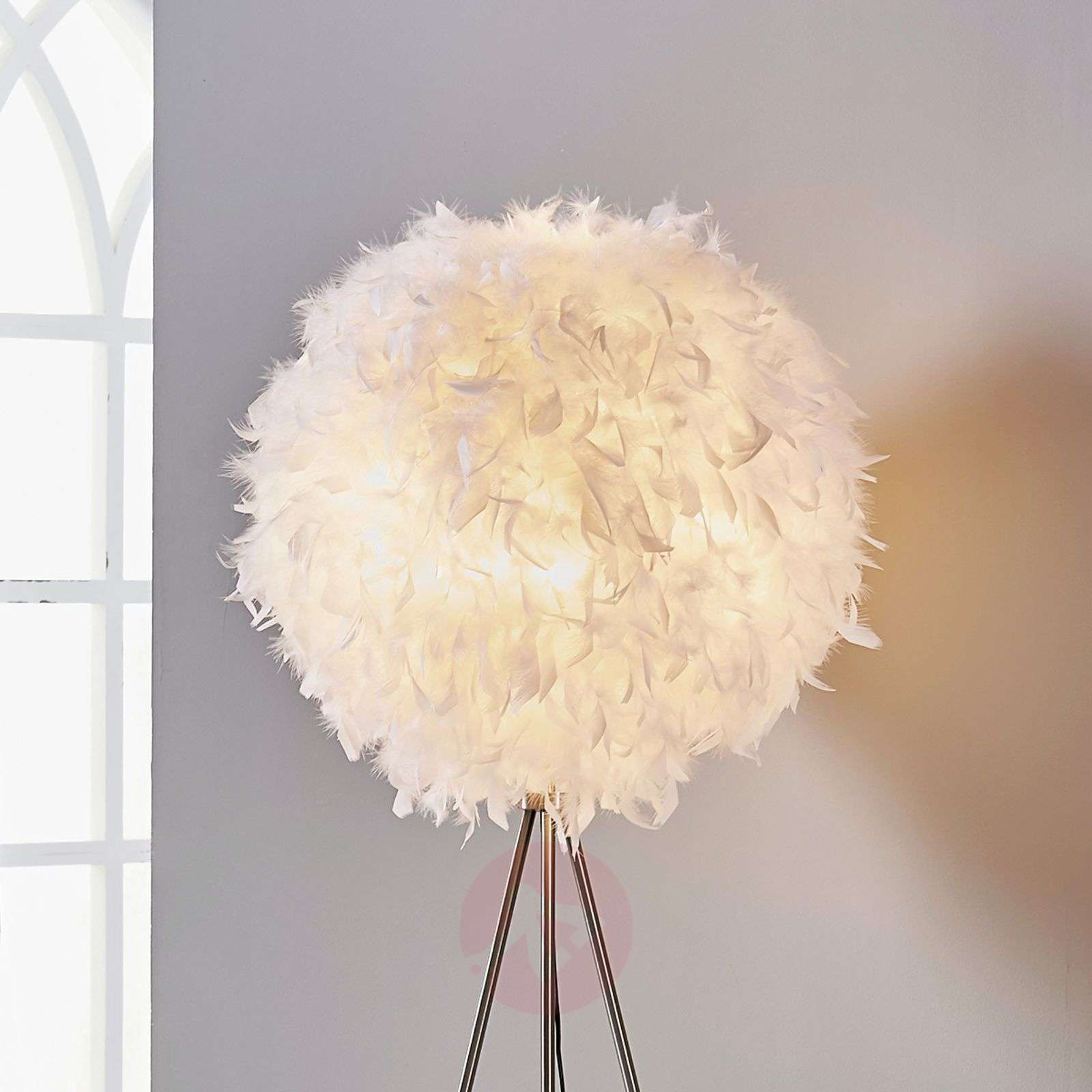 Pauline Tripod Floor Lamp With Feather D 233 Cor Lights Co Uk