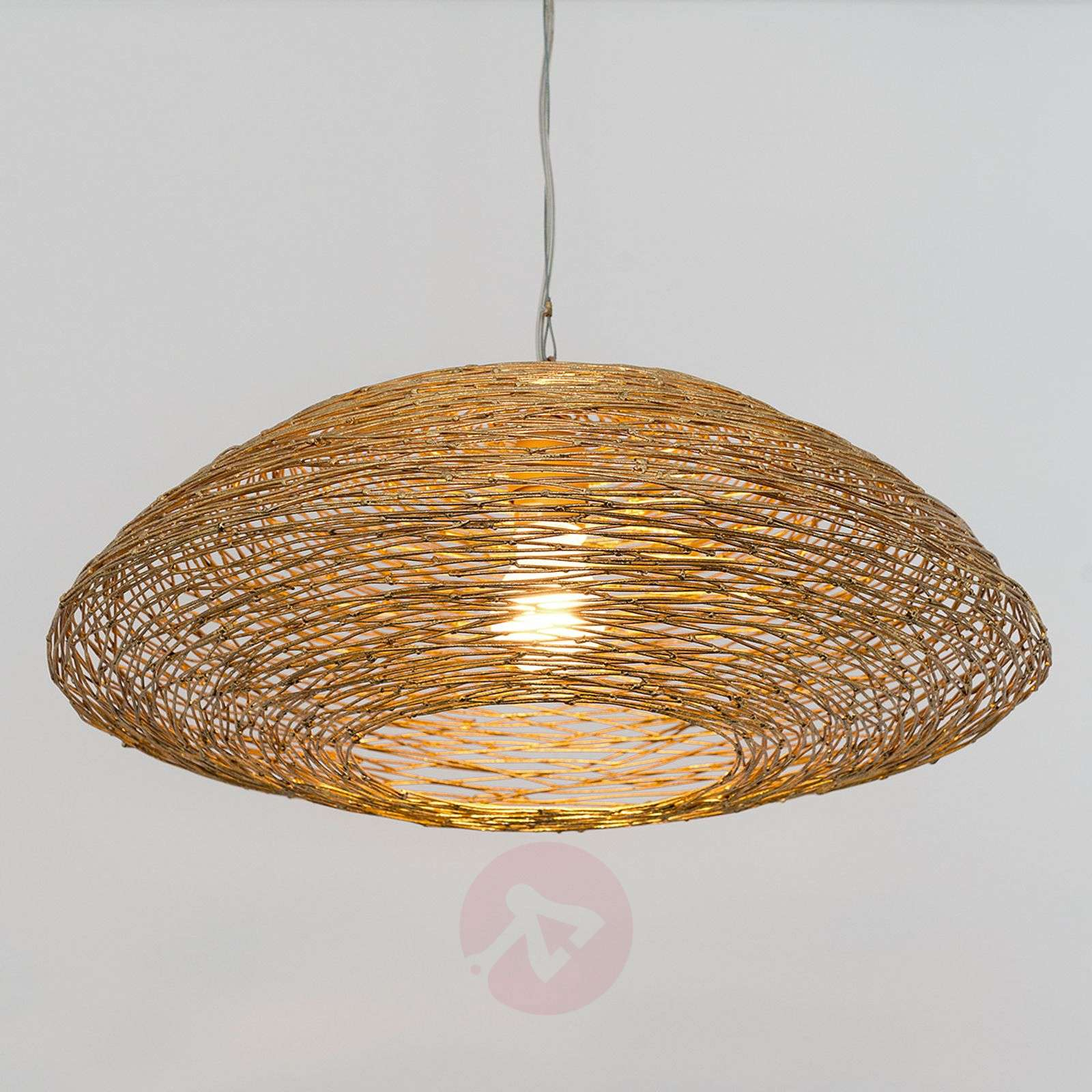 Pendant light piseo with a woven metal lampshade lights pendant light piseo with a woven metal lampshade 4512521 01 aloadofball Images