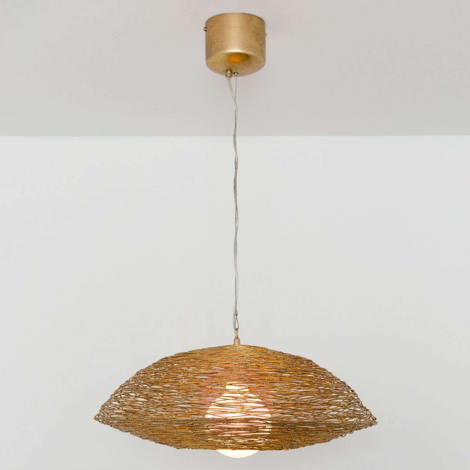 Pendant light piseo with a woven metal lampshade lights pendant light piseo with a woven metal lampshade 4512521 01 aloadofball Image collections