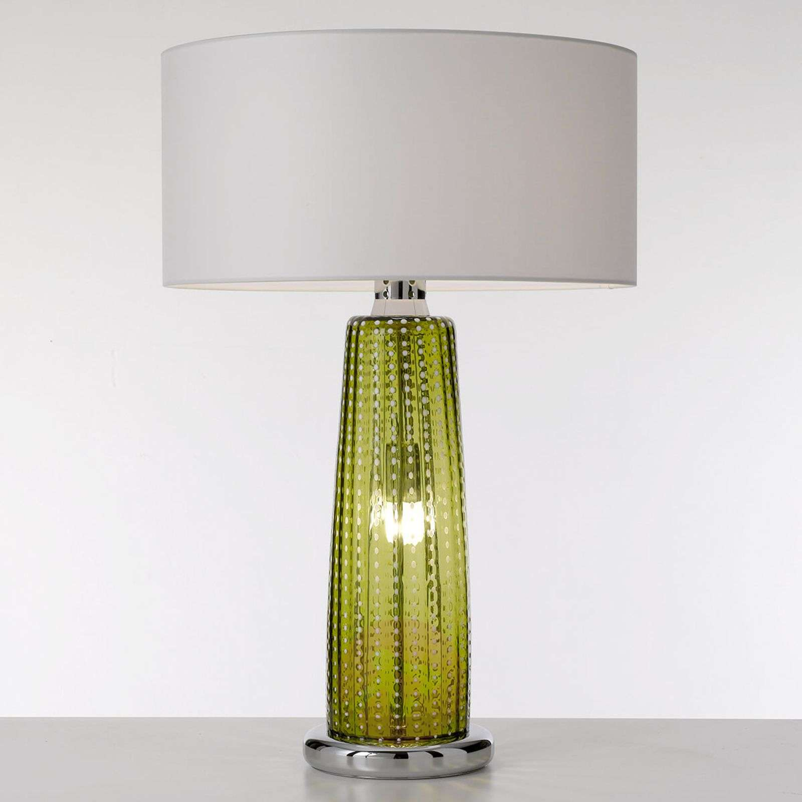 Perle Apple Green Glass Table Lamp 1053274 01