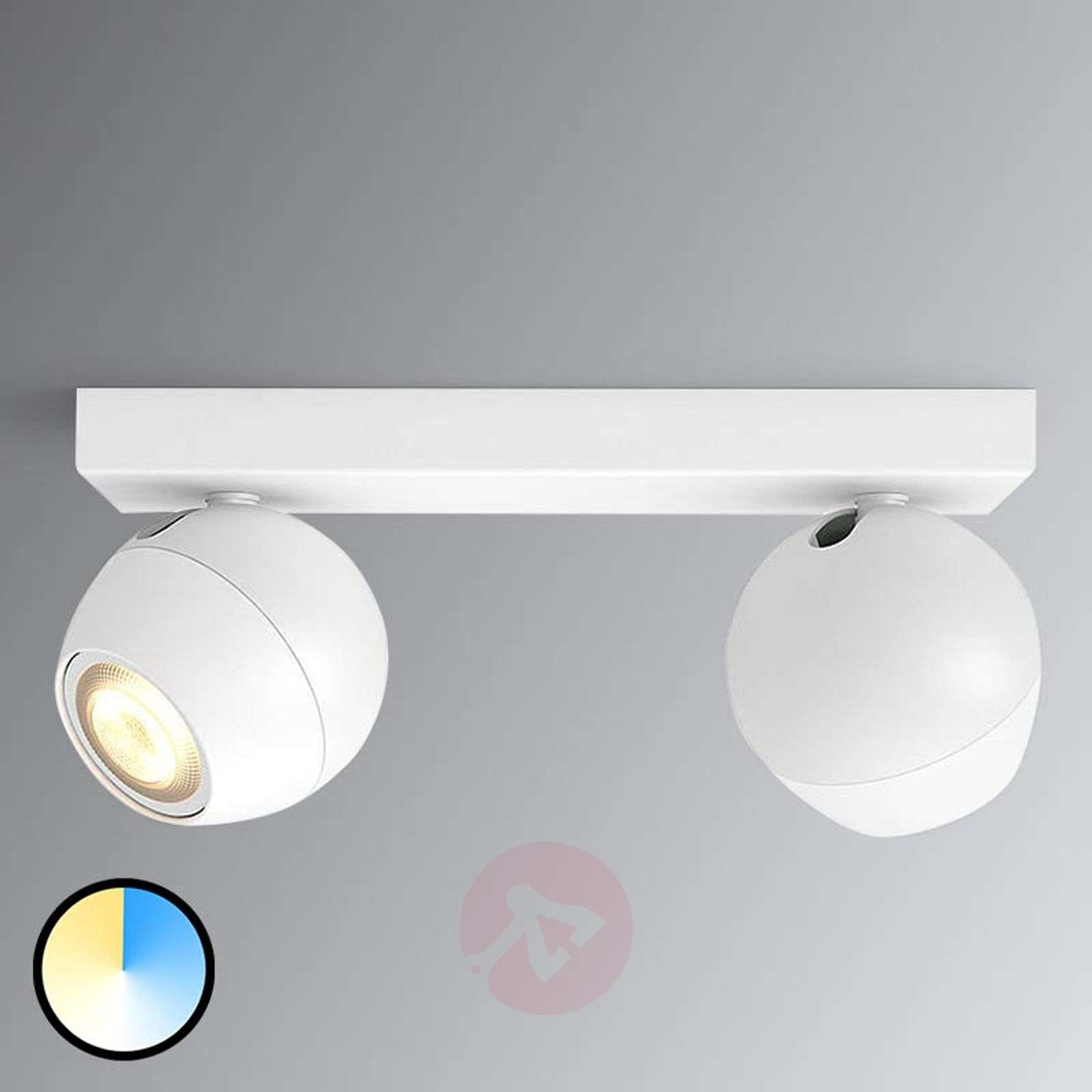 Plafoniera A Led Beign Philips Hue : Philips hue buckram white ambiance led spotlight lights.co.uk