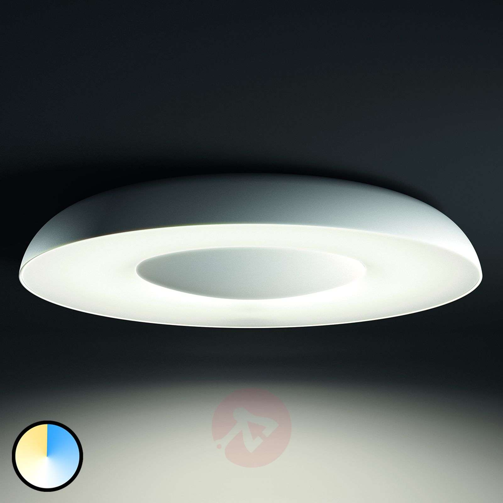 philips hue led ceiling light still in white. Black Bedroom Furniture Sets. Home Design Ideas