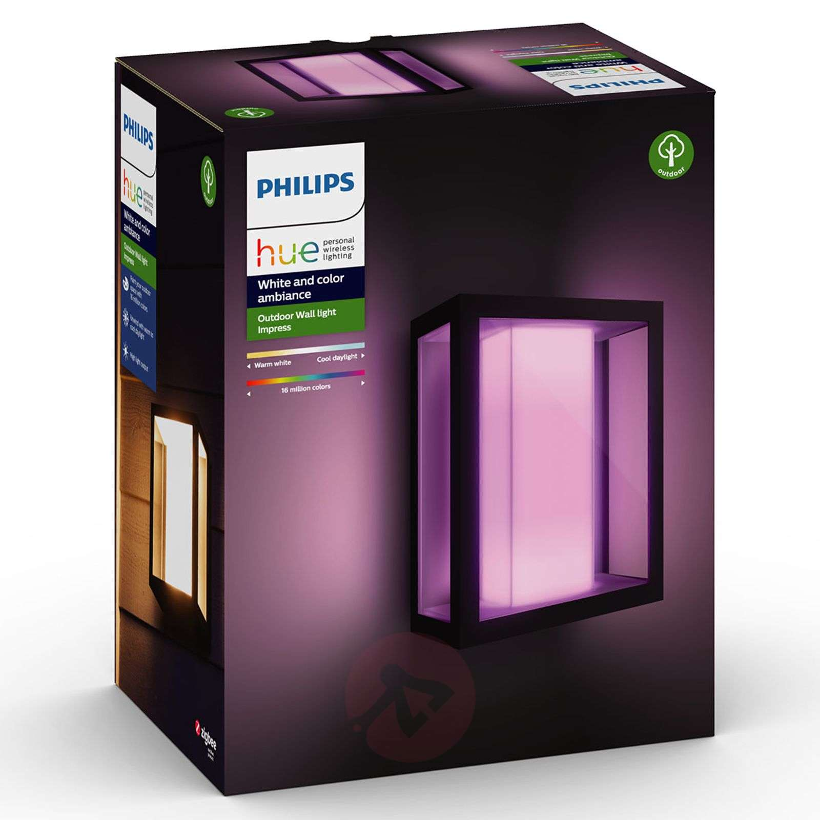 Philips Hue White+Color Impress wall light, wide | Lights ...