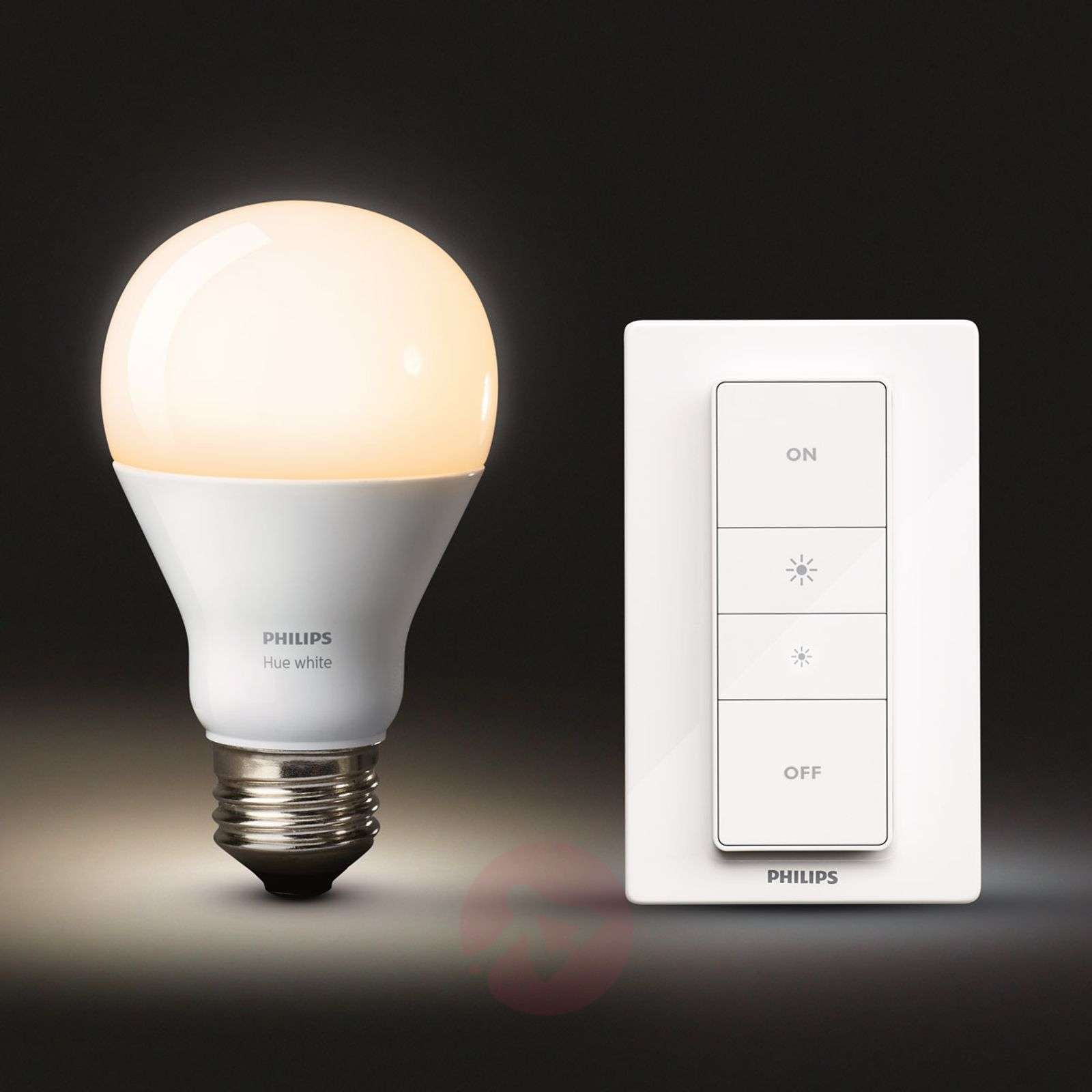 Philips Hue wireless dimming kit 9.5W E27 | Lights.co.uk