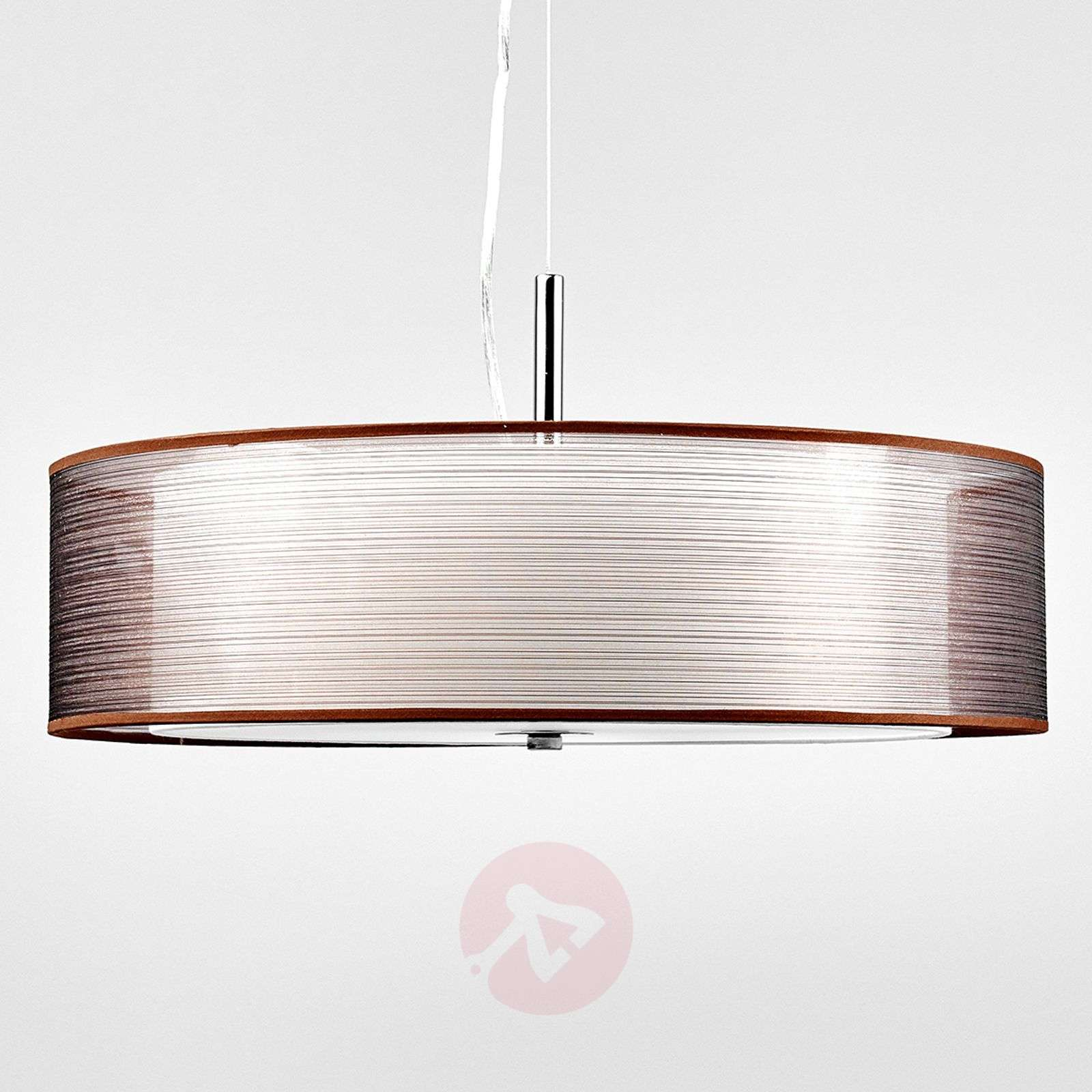 Pikka brown fabric pendant light with e27 leds lights pikka brown fabric pendant light with e27 leds 9620170 01 mozeypictures Choice Image
