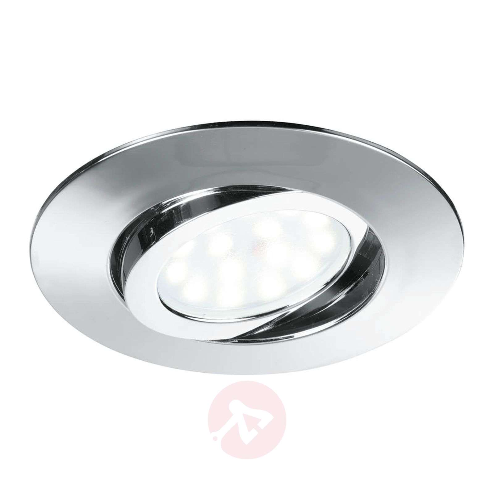 Pivotable Led Recessed Ceiling Spotl Zenit Chrome Lights Co Uk