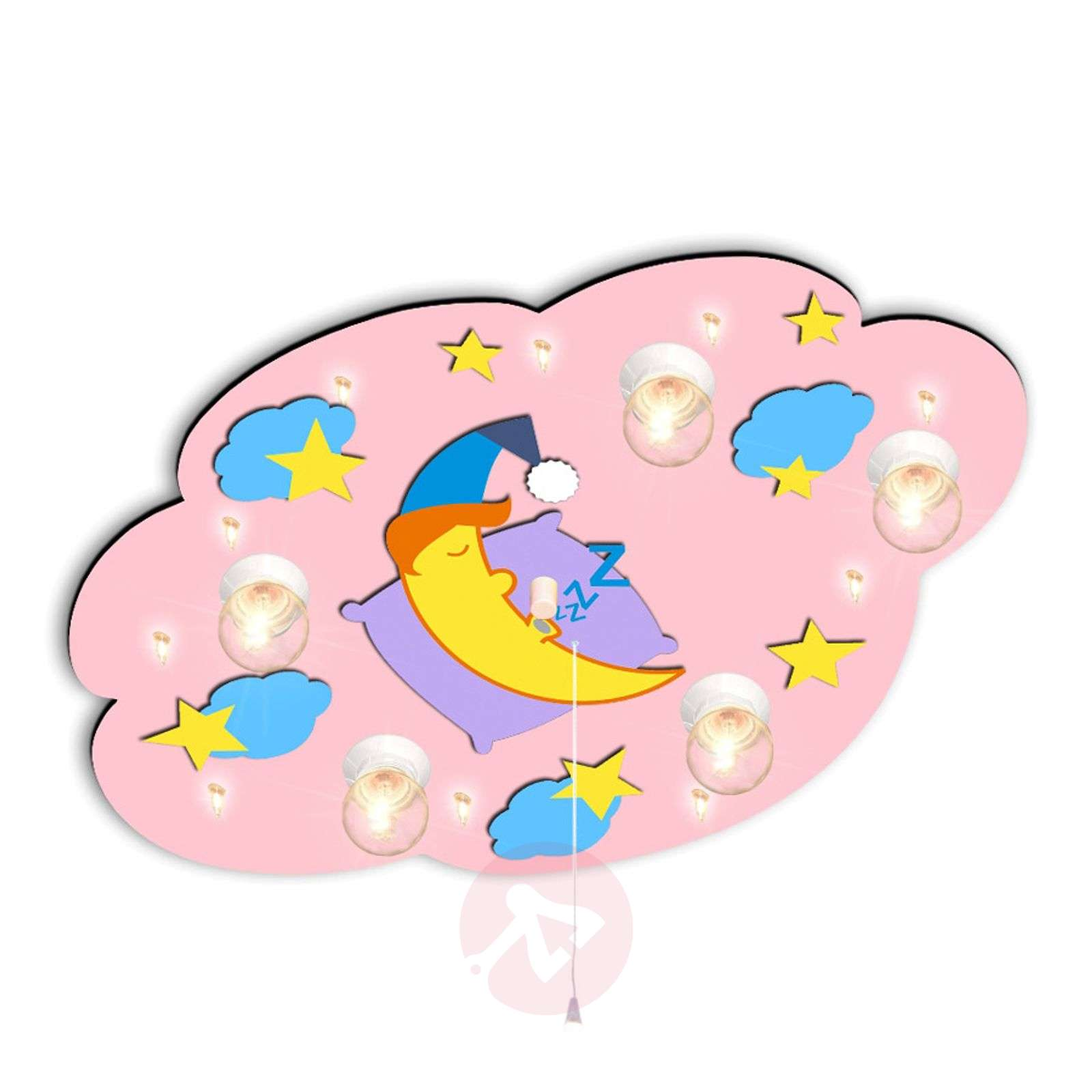 Playful Children S Ceiling Light Cloud Pink Lights Co Uk