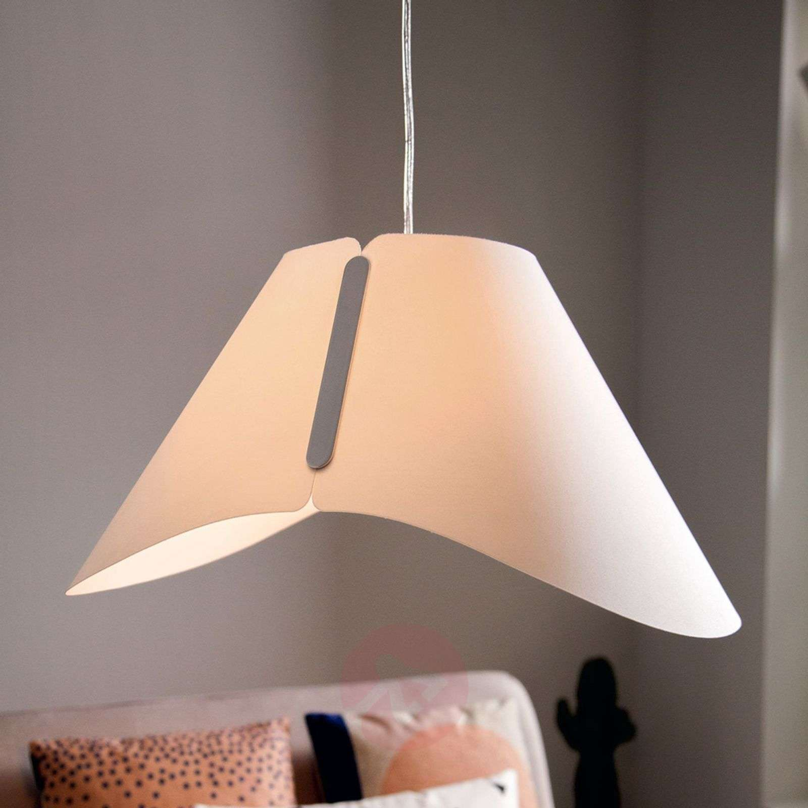 Pretty Hanging Light Ecru Smart Volume Lightscouk
