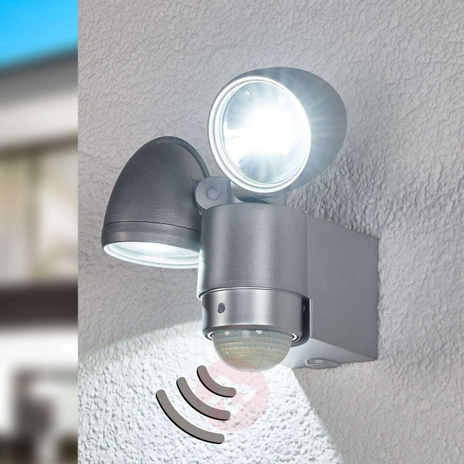 RADIAL Two Lamp LED Exterior Wall Spot | Lights.co.uk