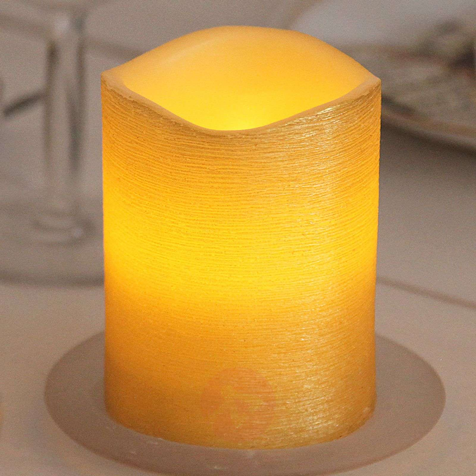 Real waxLED candle Linda structured 12.5 cm-1522542-01