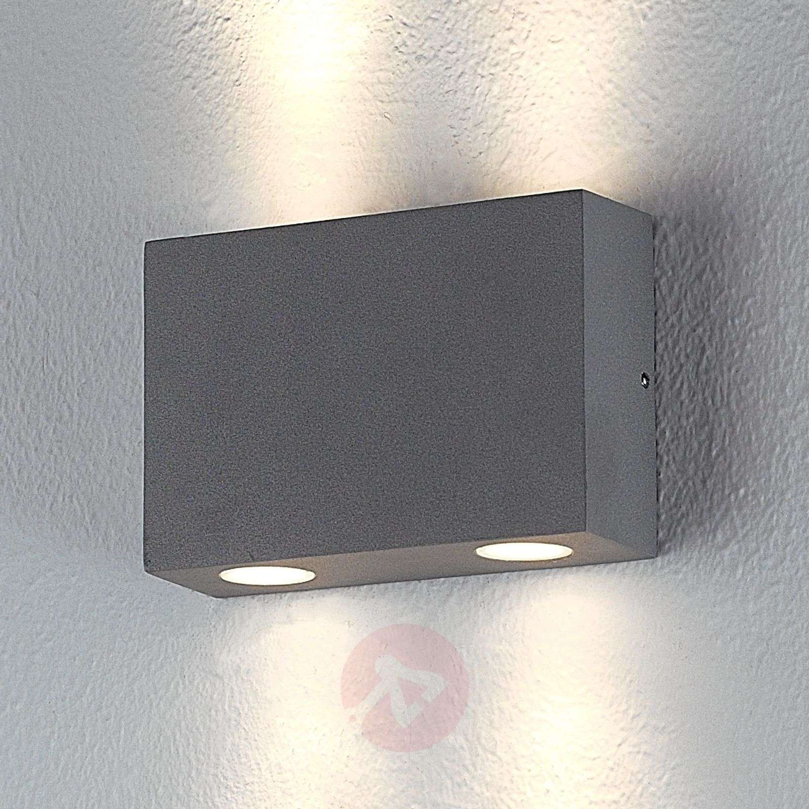 Wall Light Switch Remote Control : Rectangular outdoor wall light Henor with 4 LEDs Lights.co.uk