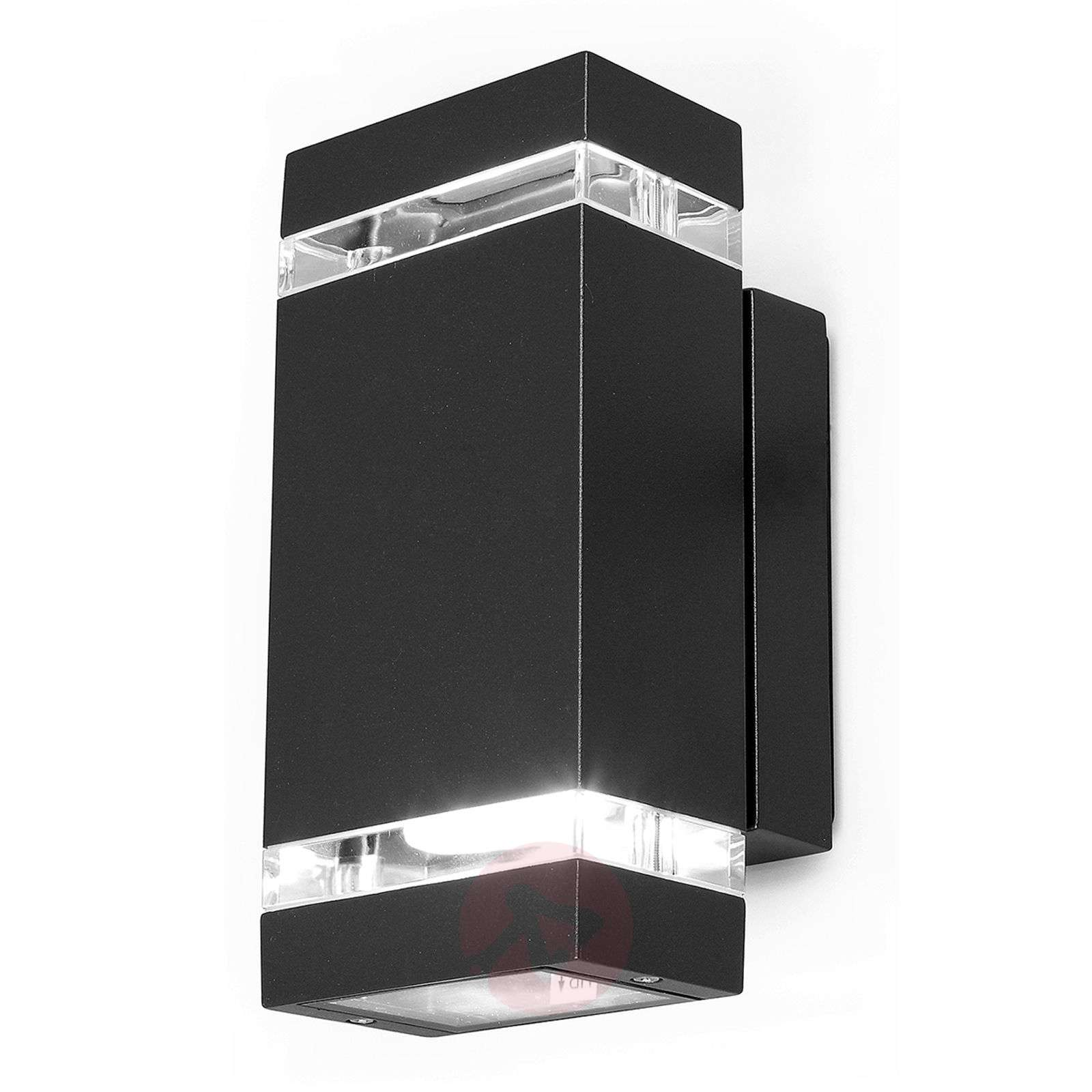 Rectangular-shaped FOCUS LED exterior wall light | Lights.co.uk