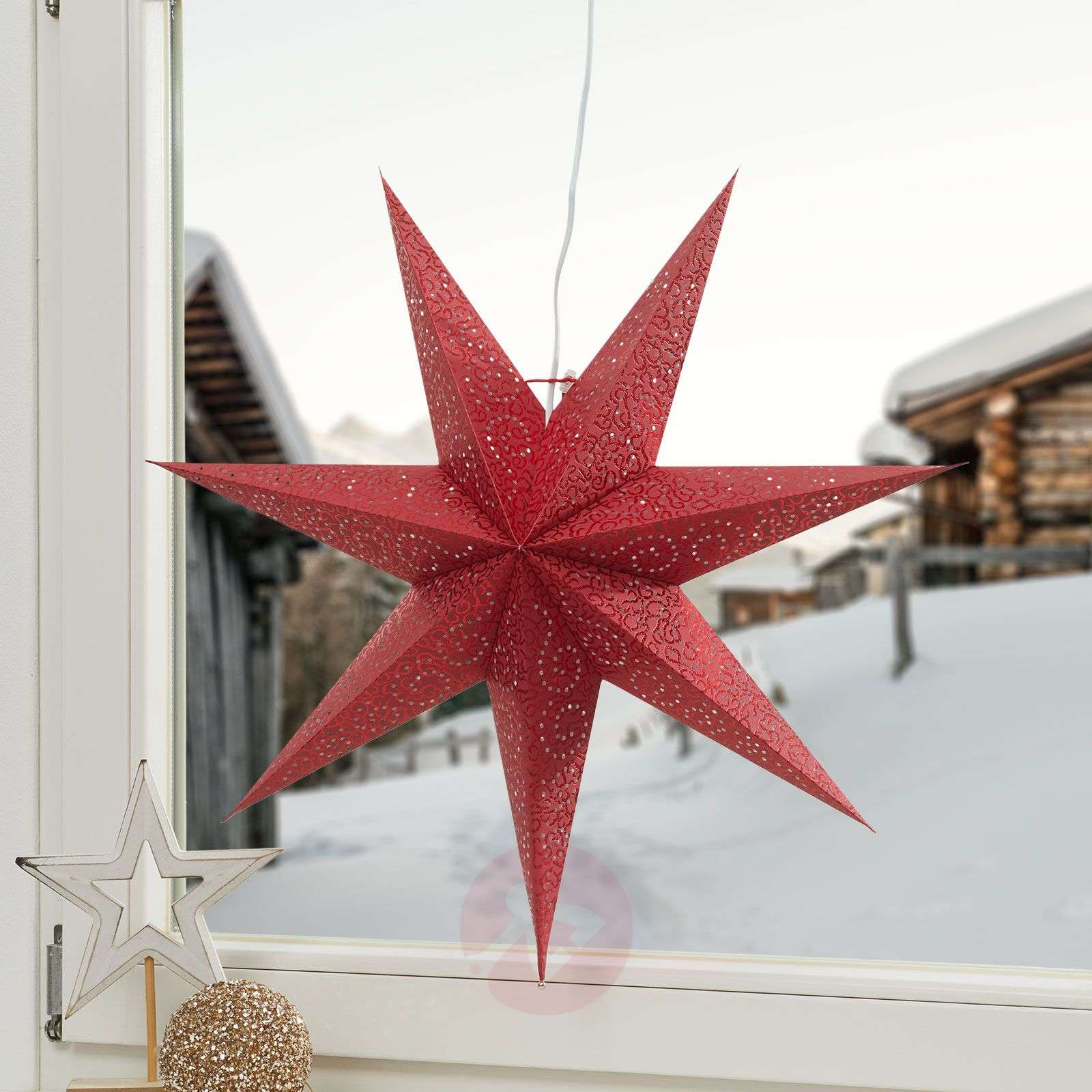 Red Paper star Antique-1522601-01