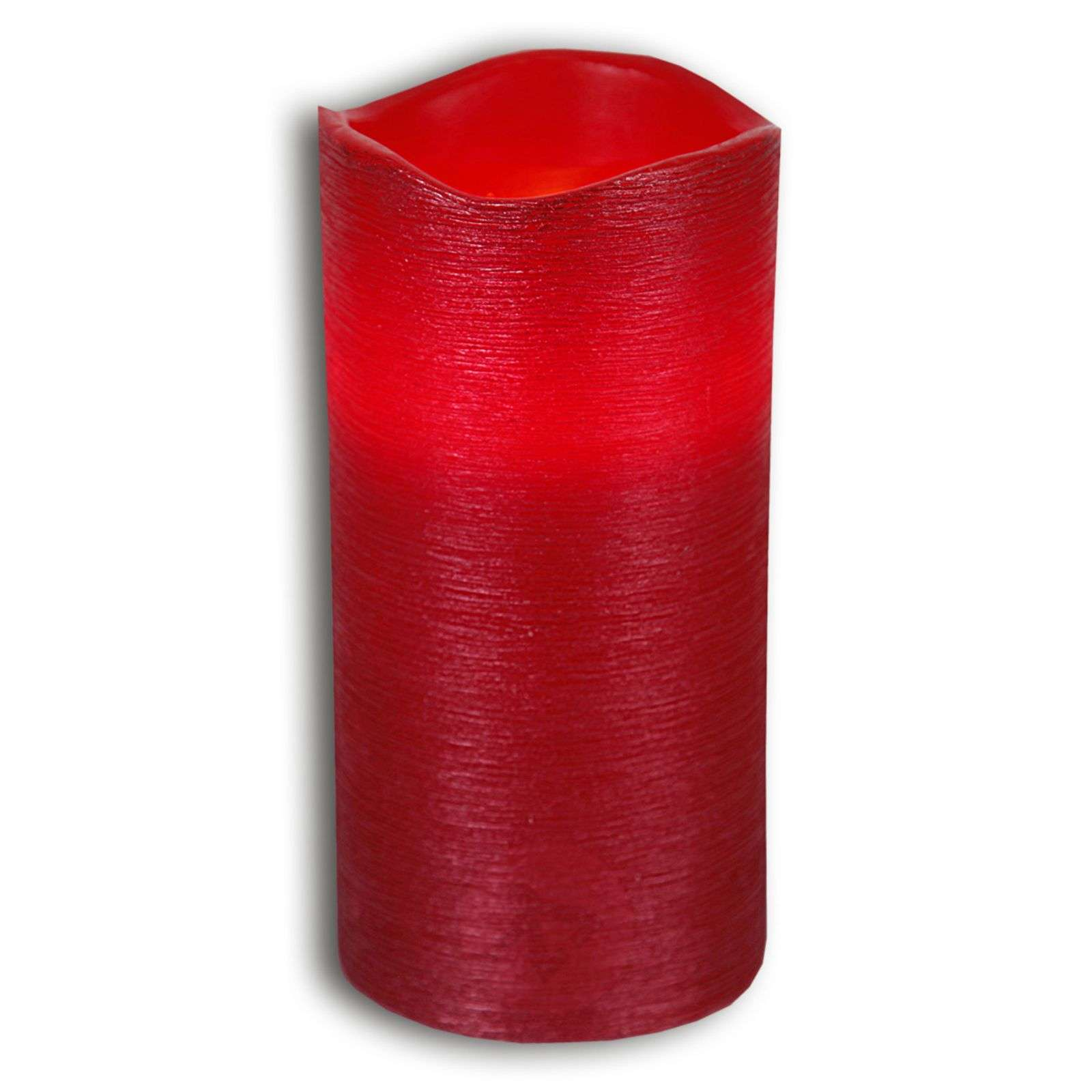 Red real waxLED candle Linda structured 15 cm-1522544-01