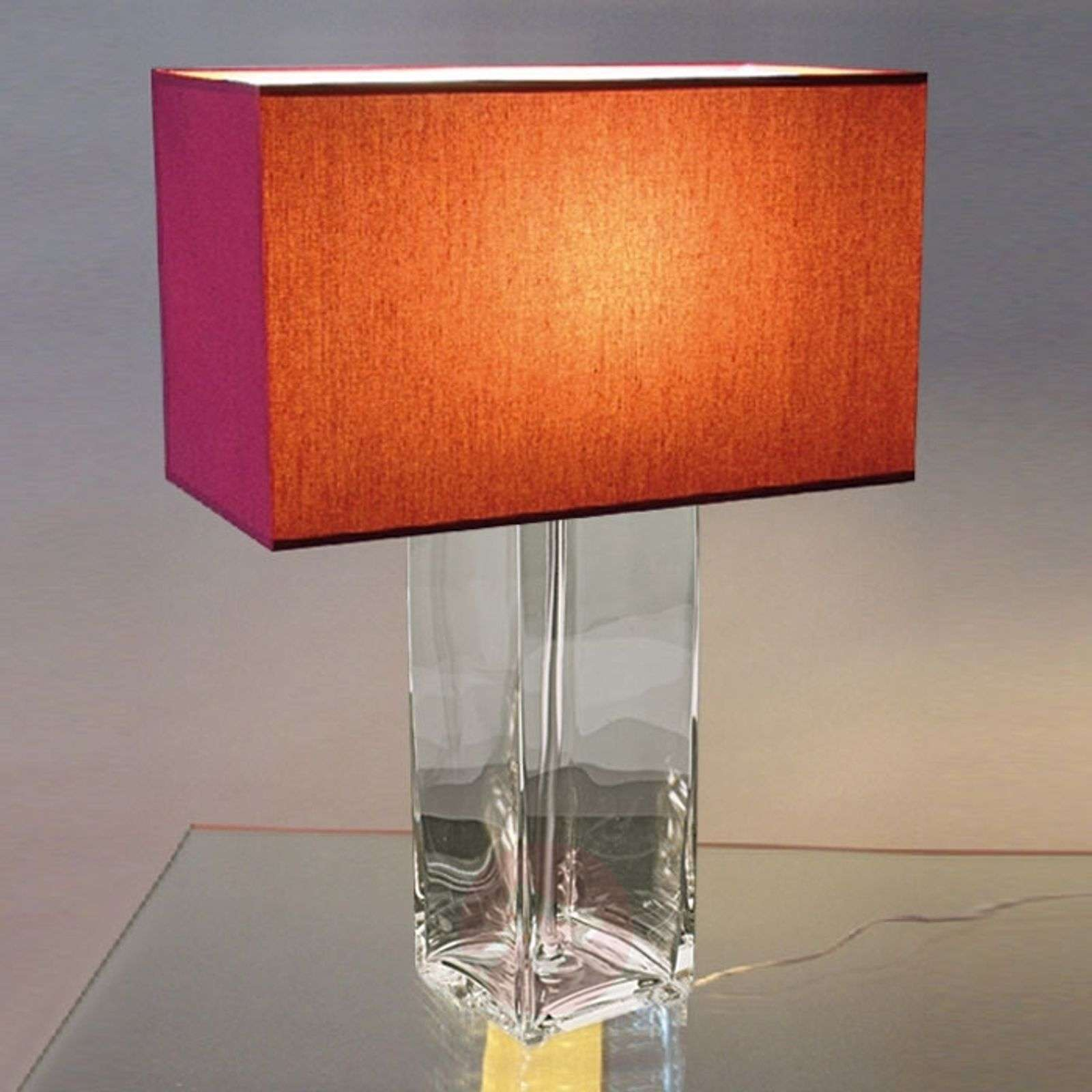 Red table lamp nina clear lights red table lamp nina clear 8025038 01 geotapseo Gallery