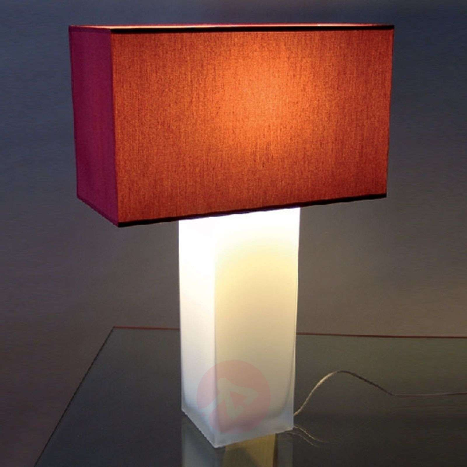 Red table lamp nina opal lights red table lamp nina opal 8025039 01 geotapseo Gallery