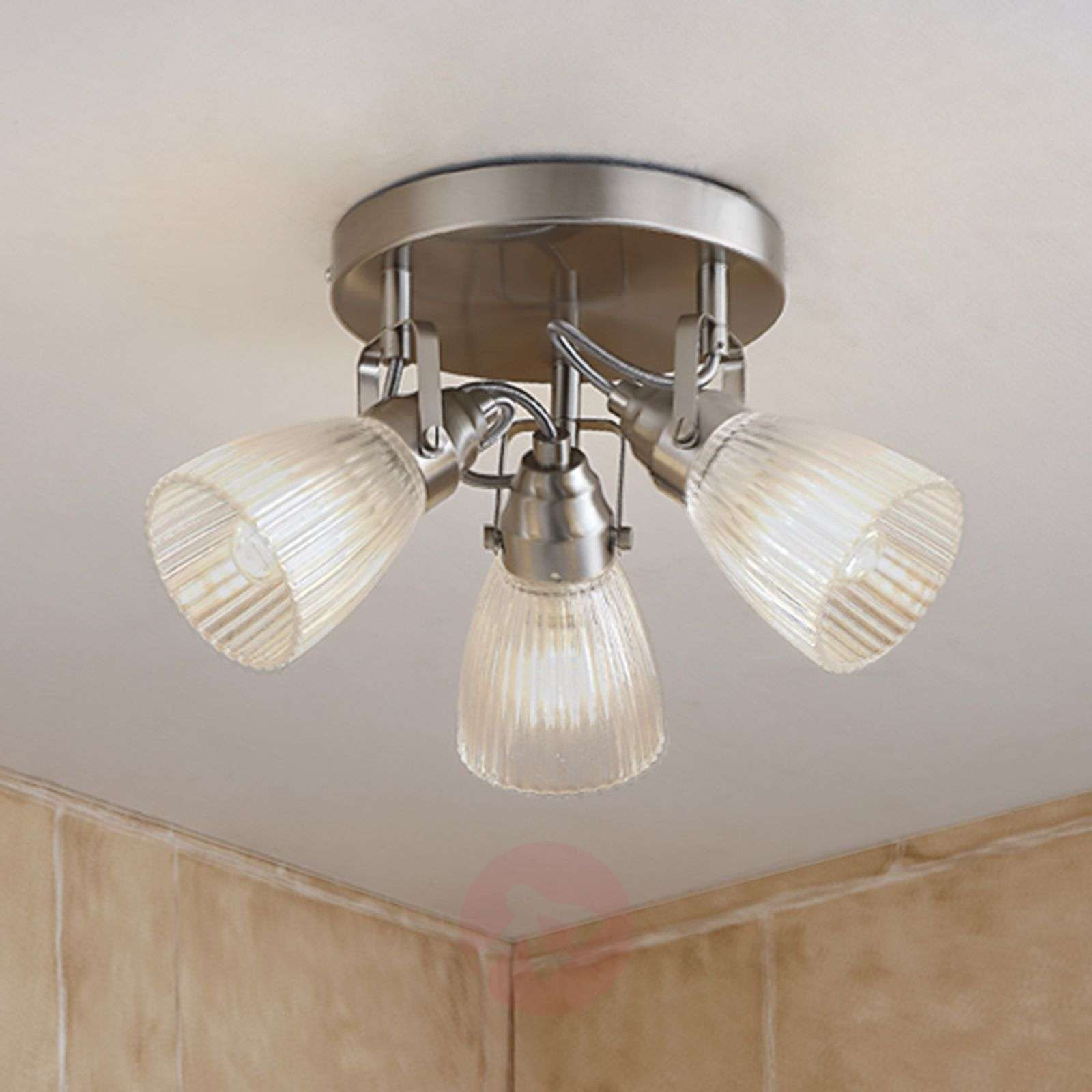 bathroom led ceiling lights led bathroom ceiling light kara fluted glass 16038