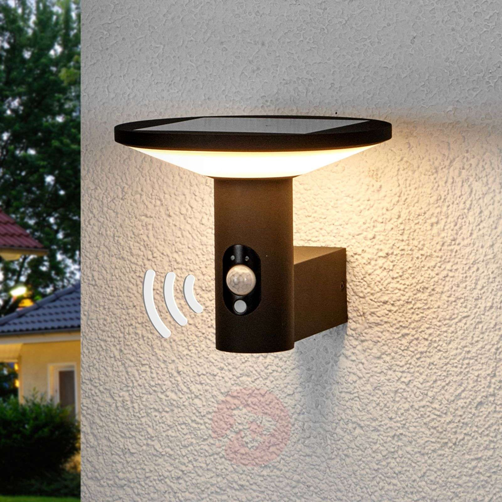 Round Led Outdoor Wall Light Jersy Solar Panel