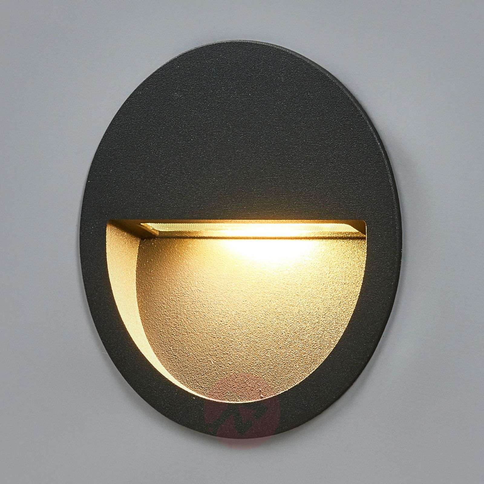 Round Led Recessed Wall Light Loya Lights Co Uk