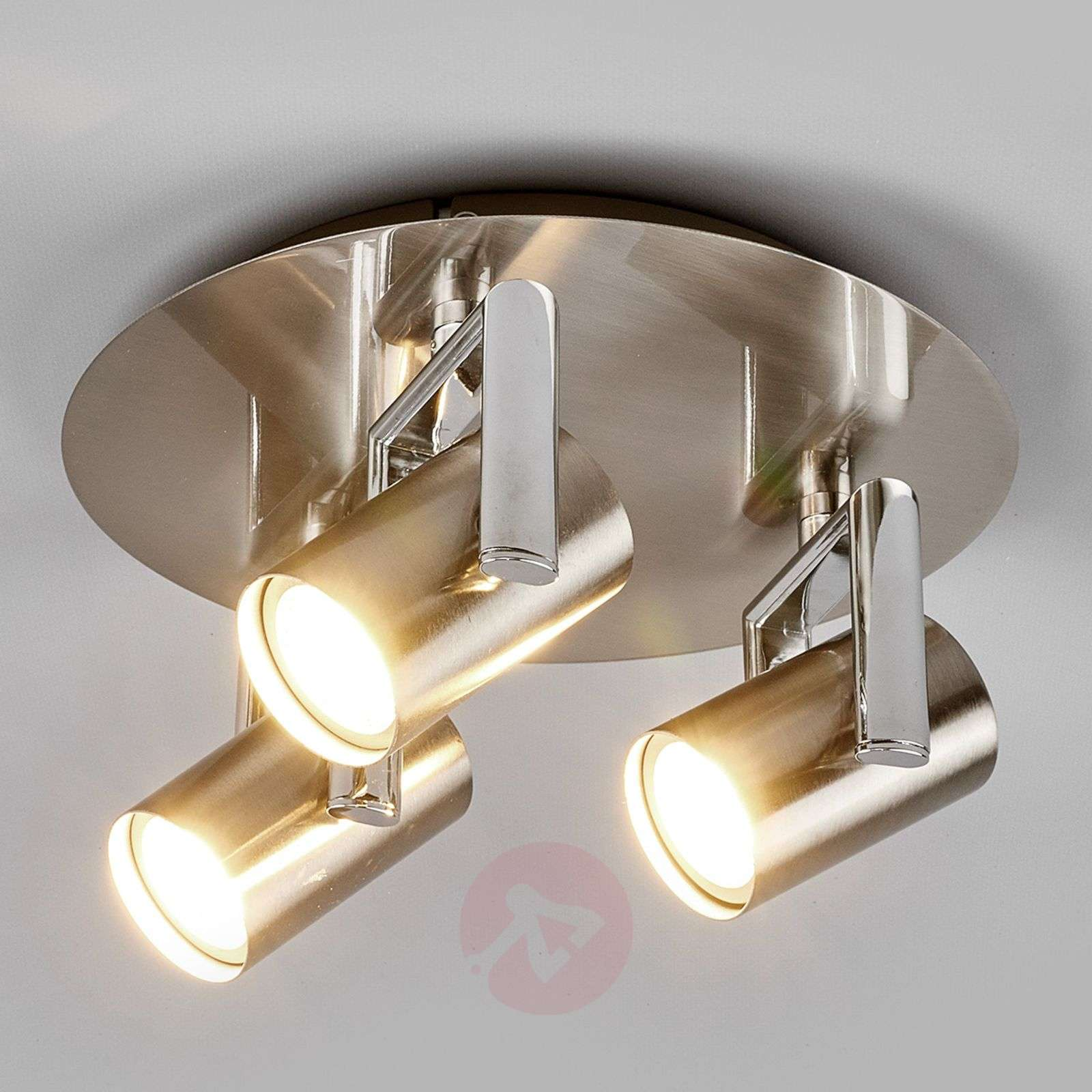 3 Bulb Ceiling Light: Round Luciana LED Ceiling Spotlight, 3-bulb