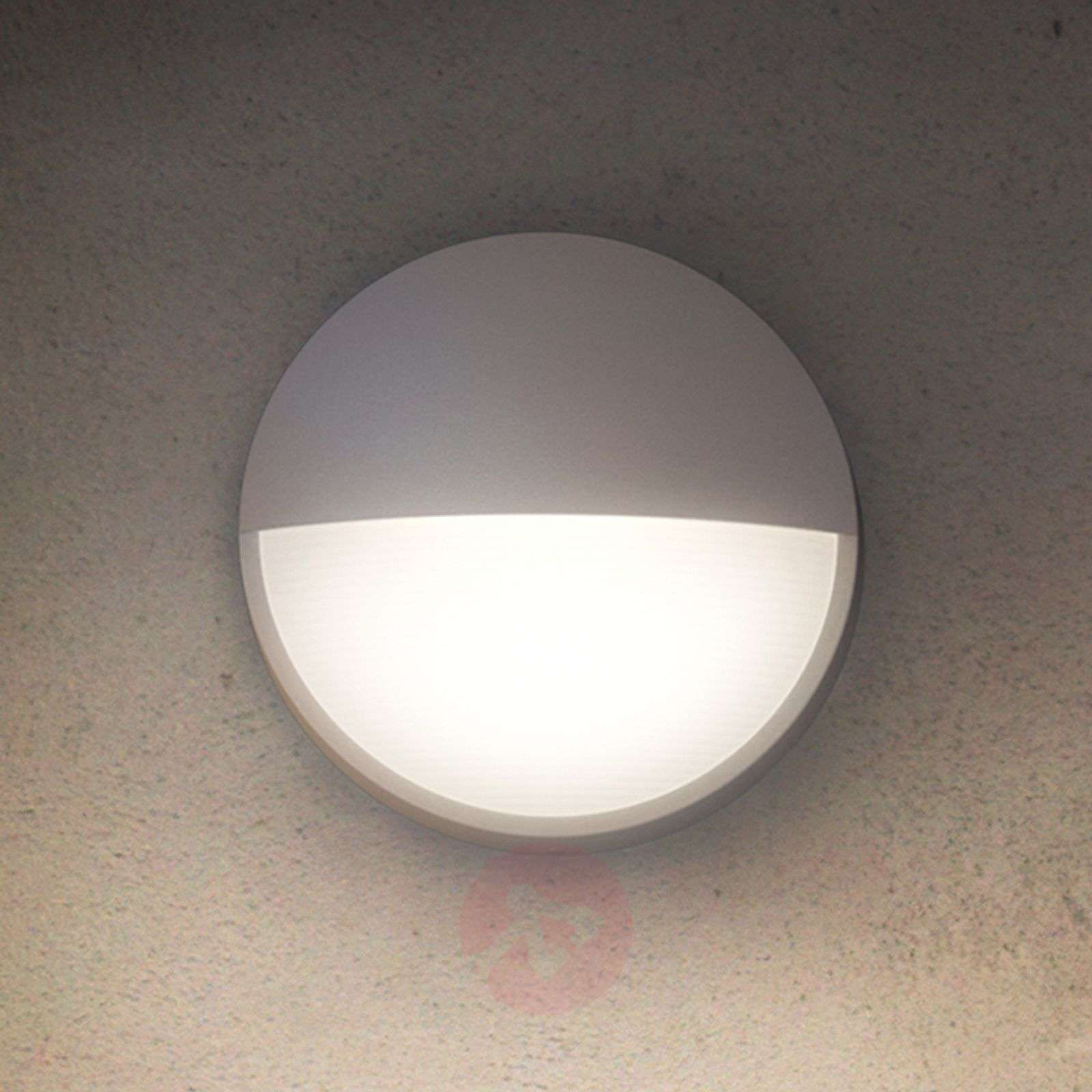 Round Outdoor Wall Light Capricon With Led Lights Co Uk