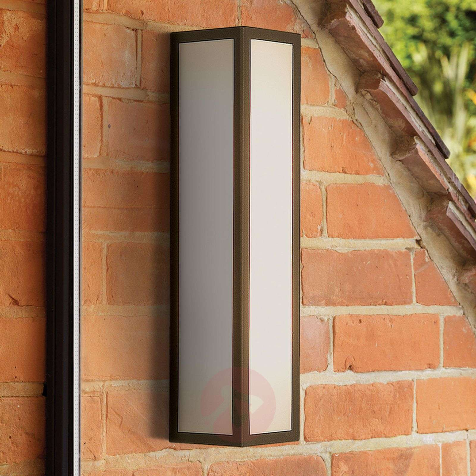 Salerno Outside Wall Light with White Glass-1020336-03