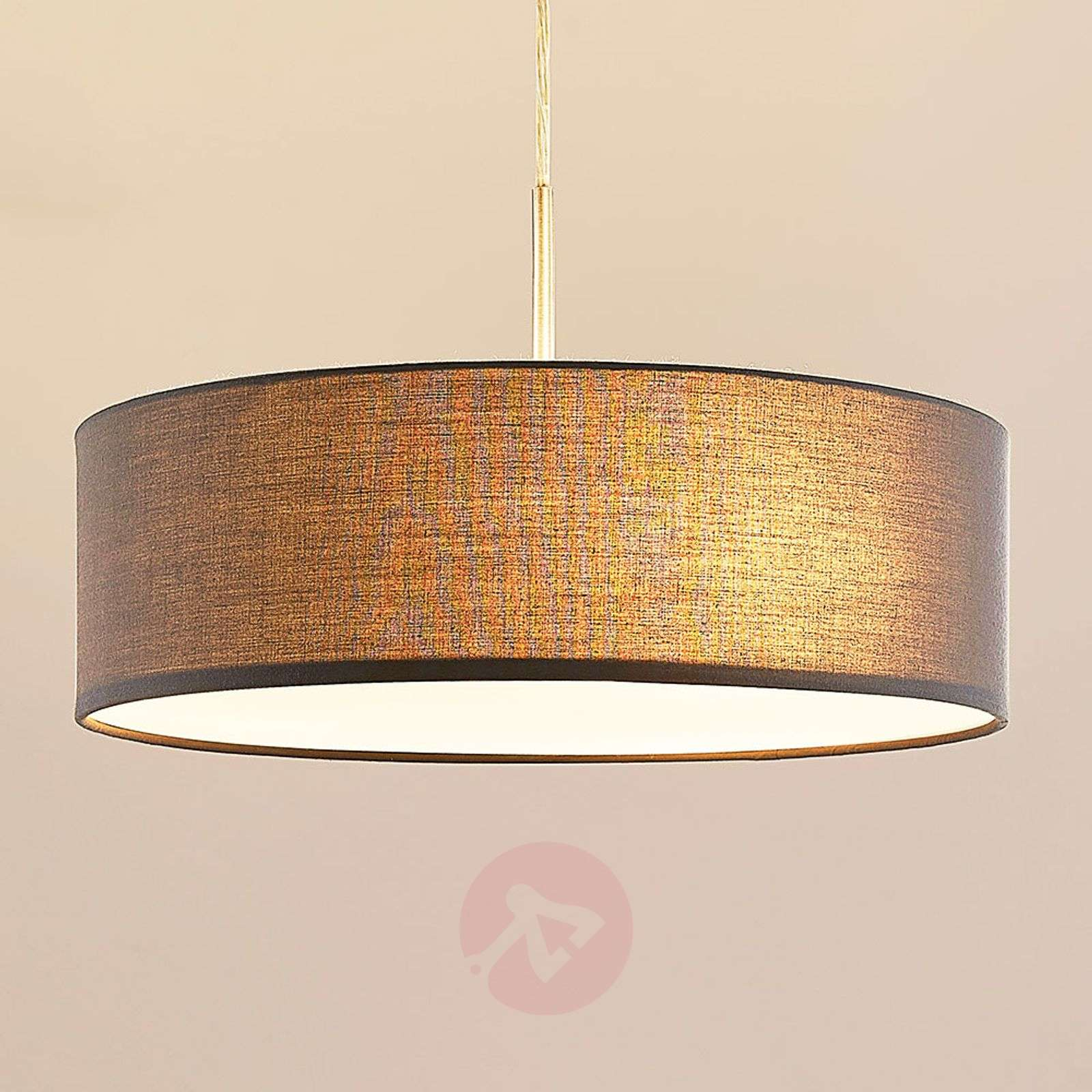 Sebatin - Fabric Pendant Light In Grey