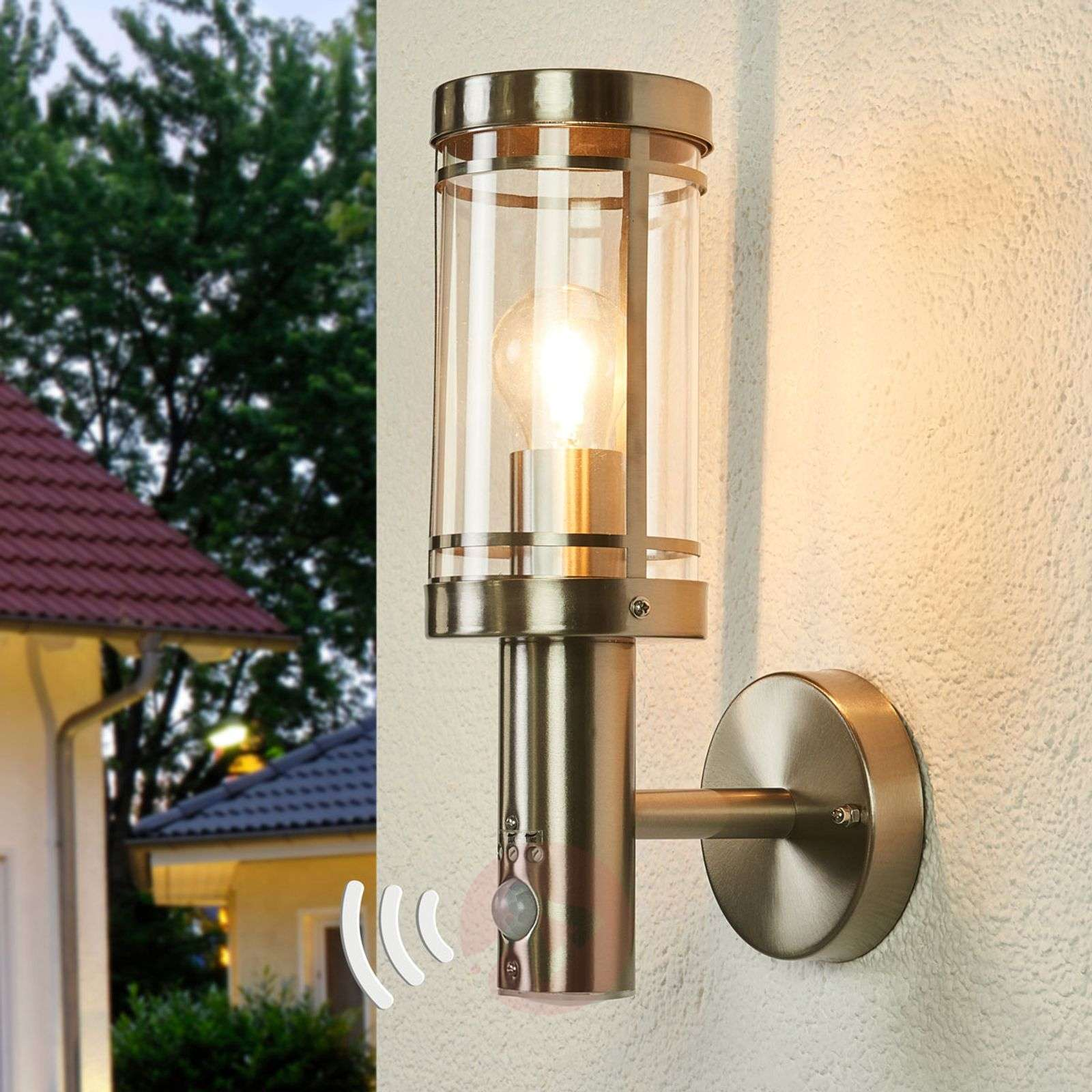 Outdoor Lighting Companies: Sensor Stainless Steel Outdoor Wall Lamp Djori