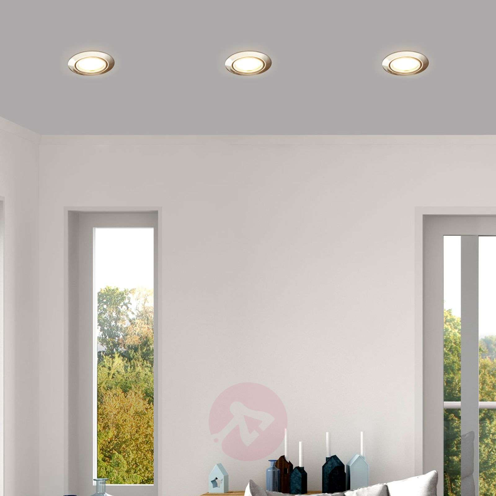 Set of 3 juna easydim recessed lights with led lights set of 3 juna easydim recessed lights with led 1558079 02 mozeypictures Image collections