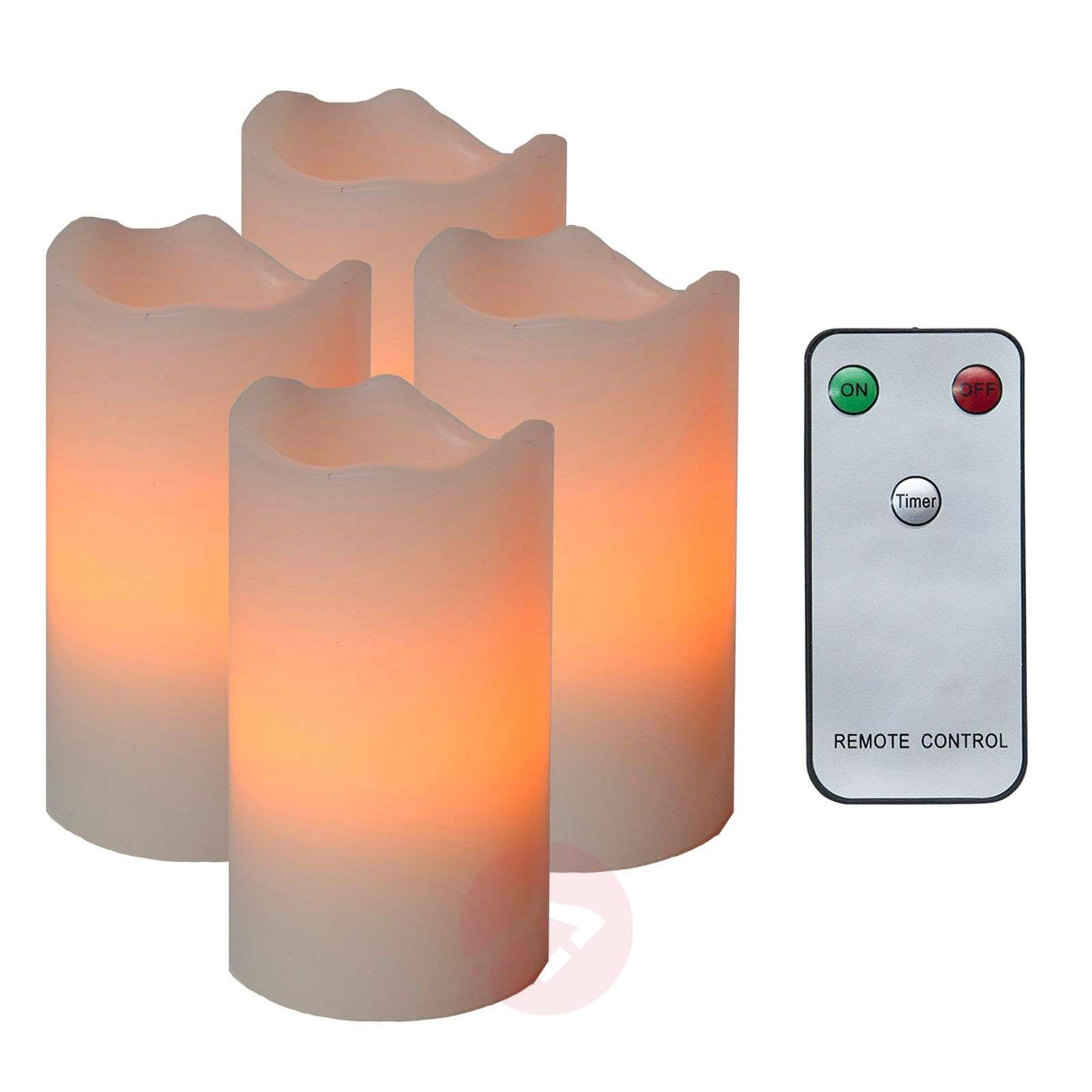 Set of 4 LED candles Candle with remote control-1522511X-01