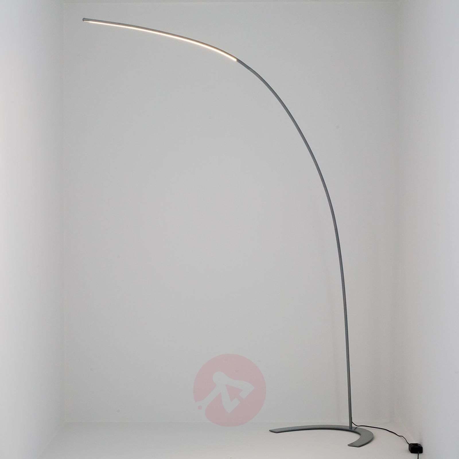Silver coloured arc shaped led floor lamp danua lights silver coloured arc shaped led floor lamp danua 9620433 01 mozeypictures Gallery