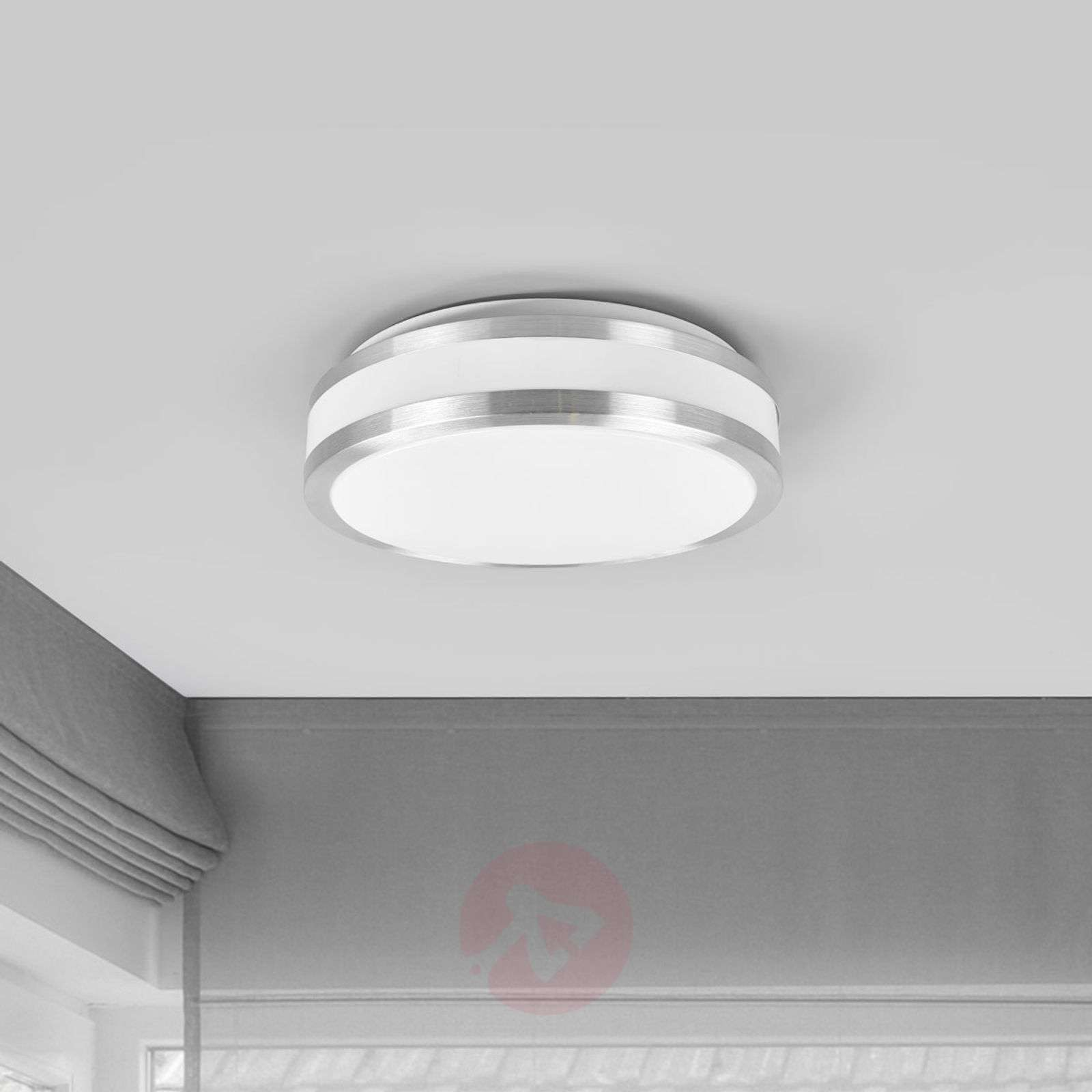 Simple LED ceiling light Edona, aluminium frame | Lights.co.uk