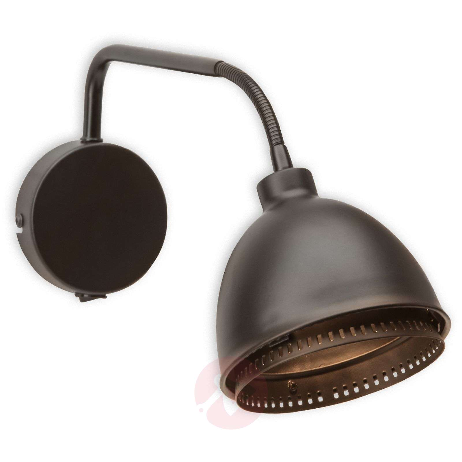 Skirt black wall light with an industrial design-1509065-01