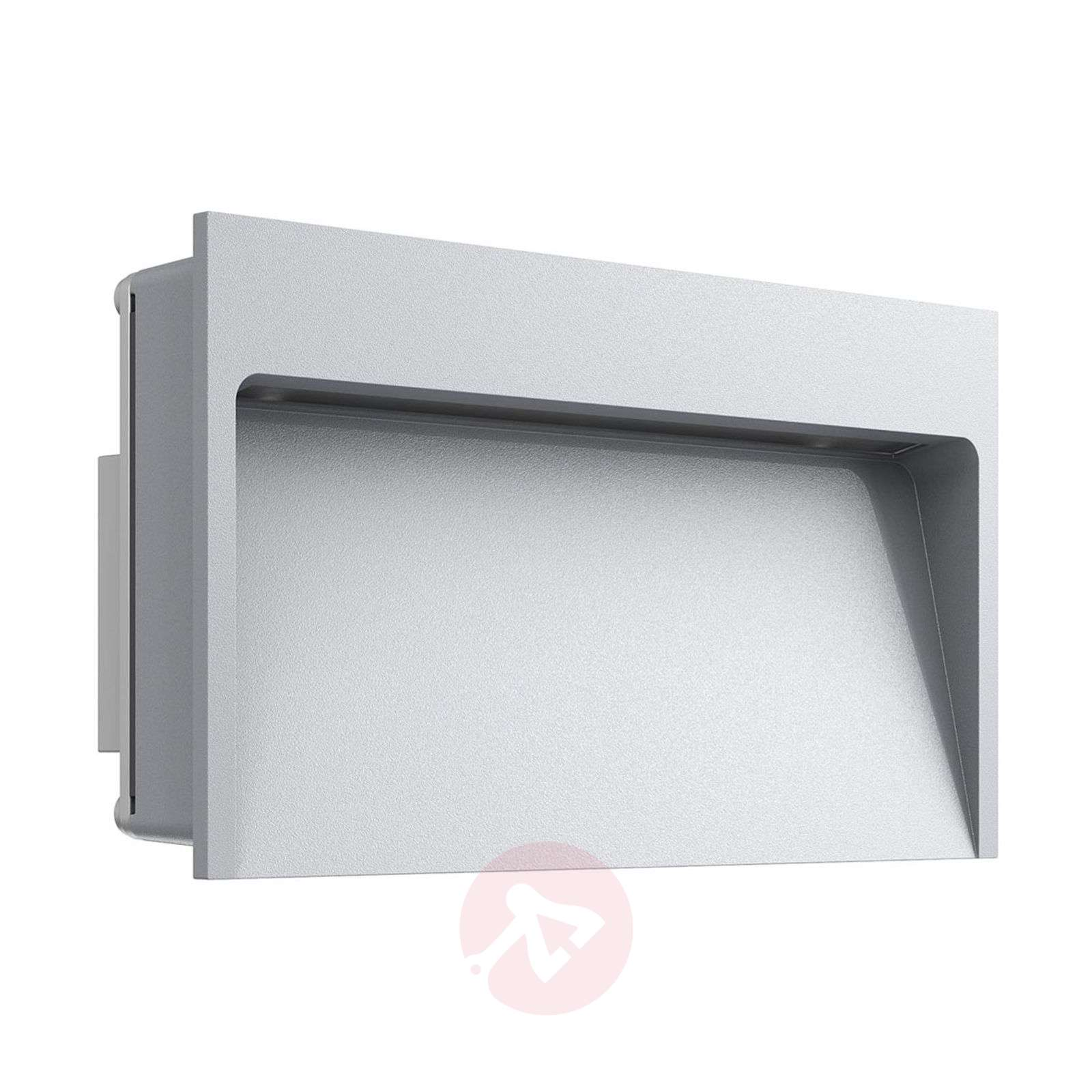 Wide led recessed wall light my way lights small led wall recessed lamp my way grey 3510418 01 aloadofball Images