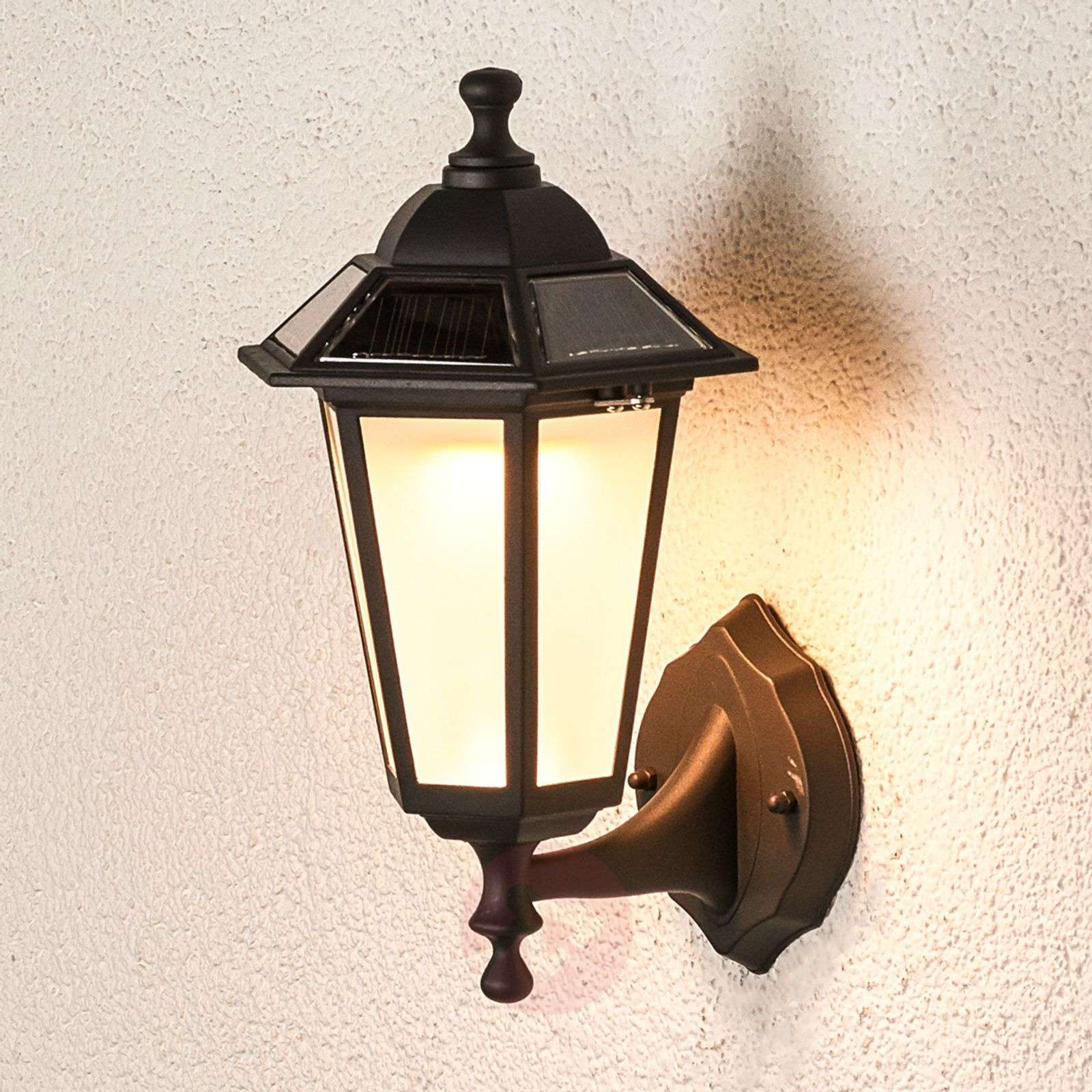 Solar Wall Lamps Outdoor : Solar Kristin LED outdoor wall light Lights.co.uk