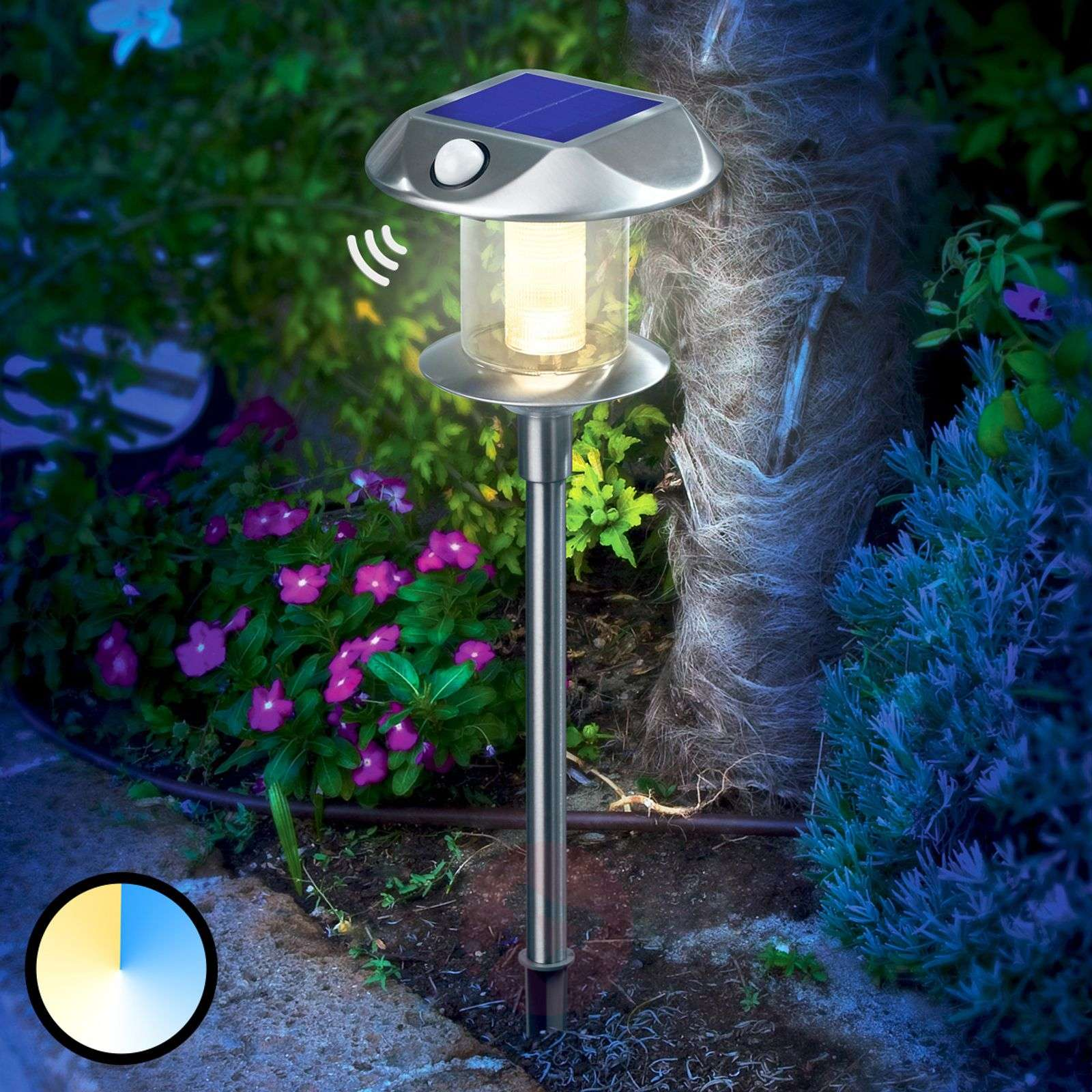 Solar Light Sunny Pir Variable Luminous Colour Lights Co Uk
