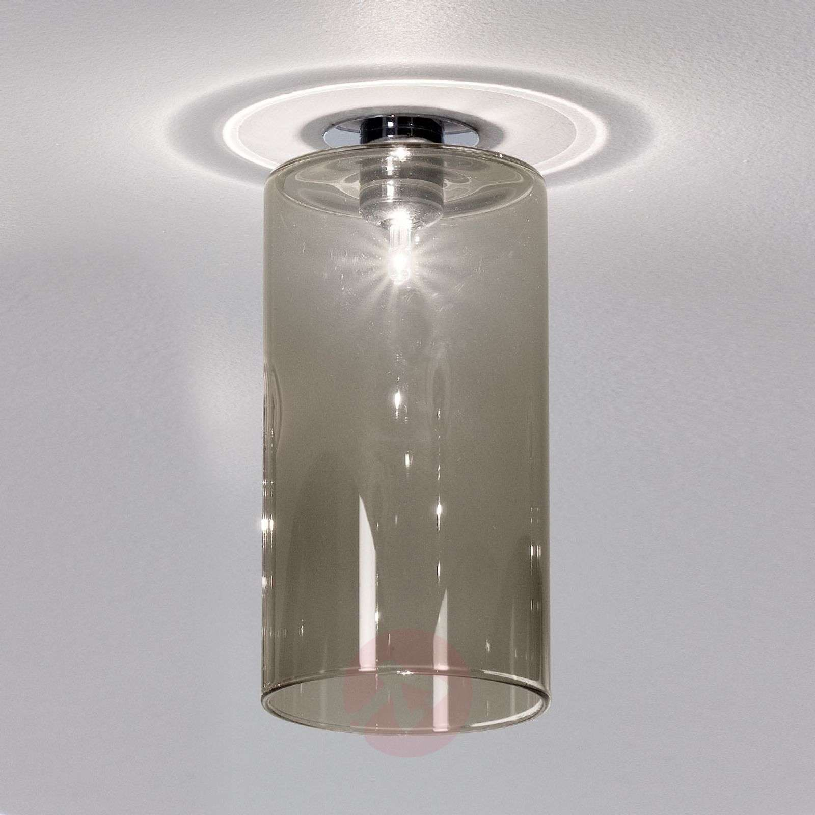 Spillray installed light with grey glass shade-1088050-01