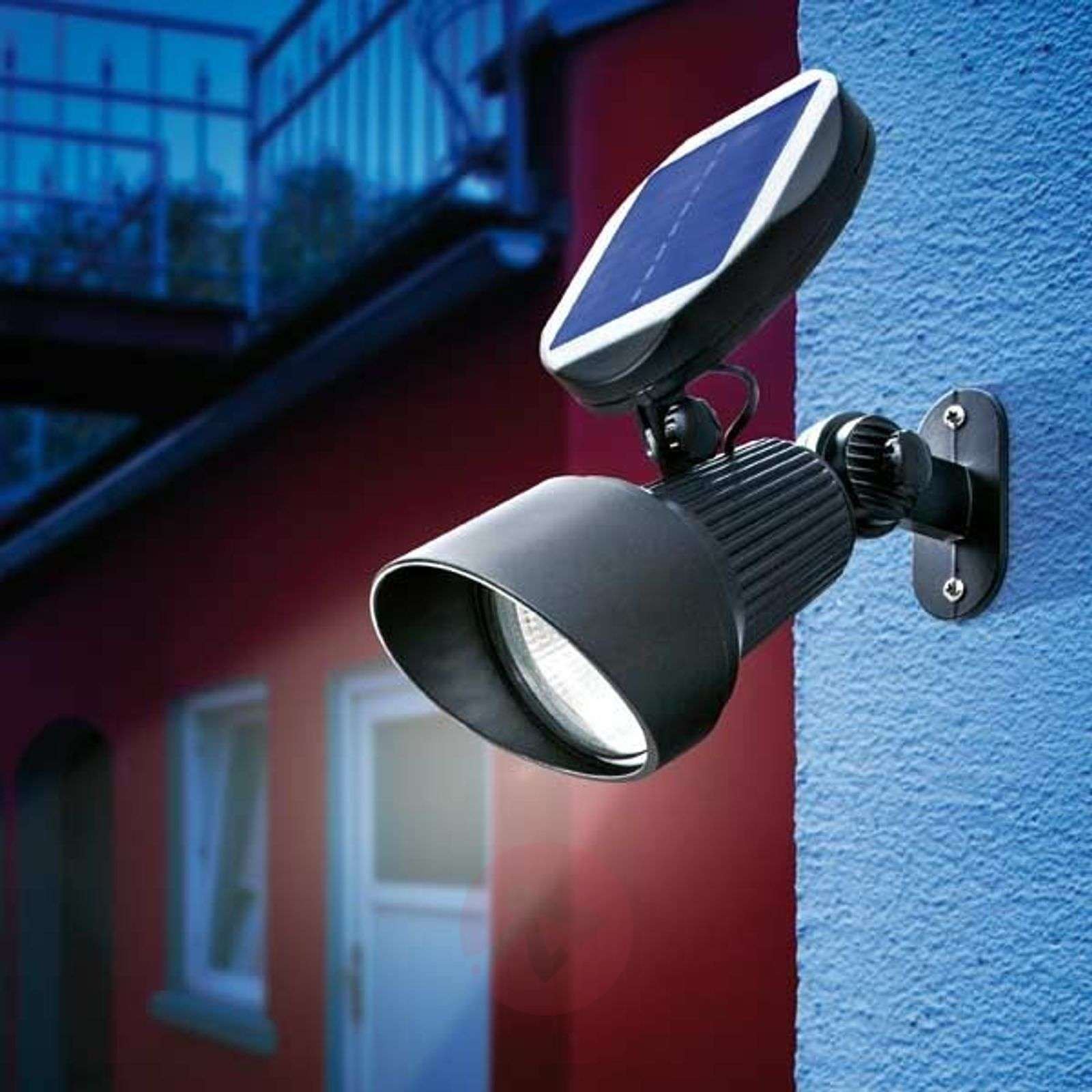 Hooded Led Wall Ground Light: Spotlight Solar Wall And Ground Spot Light LED
