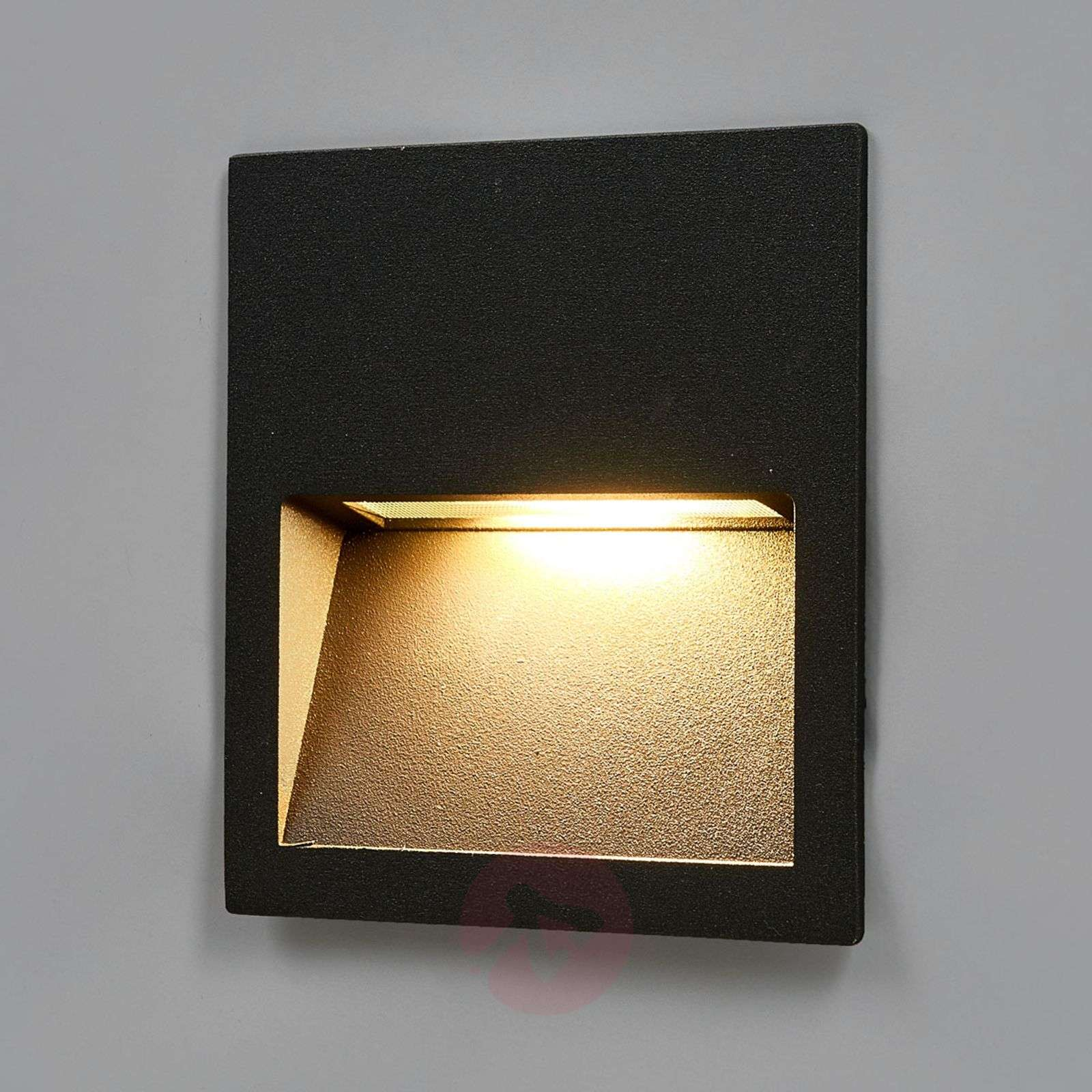 Recessed Wall Lighting: Square LED Recessed Wall Light Loya For Outdoors