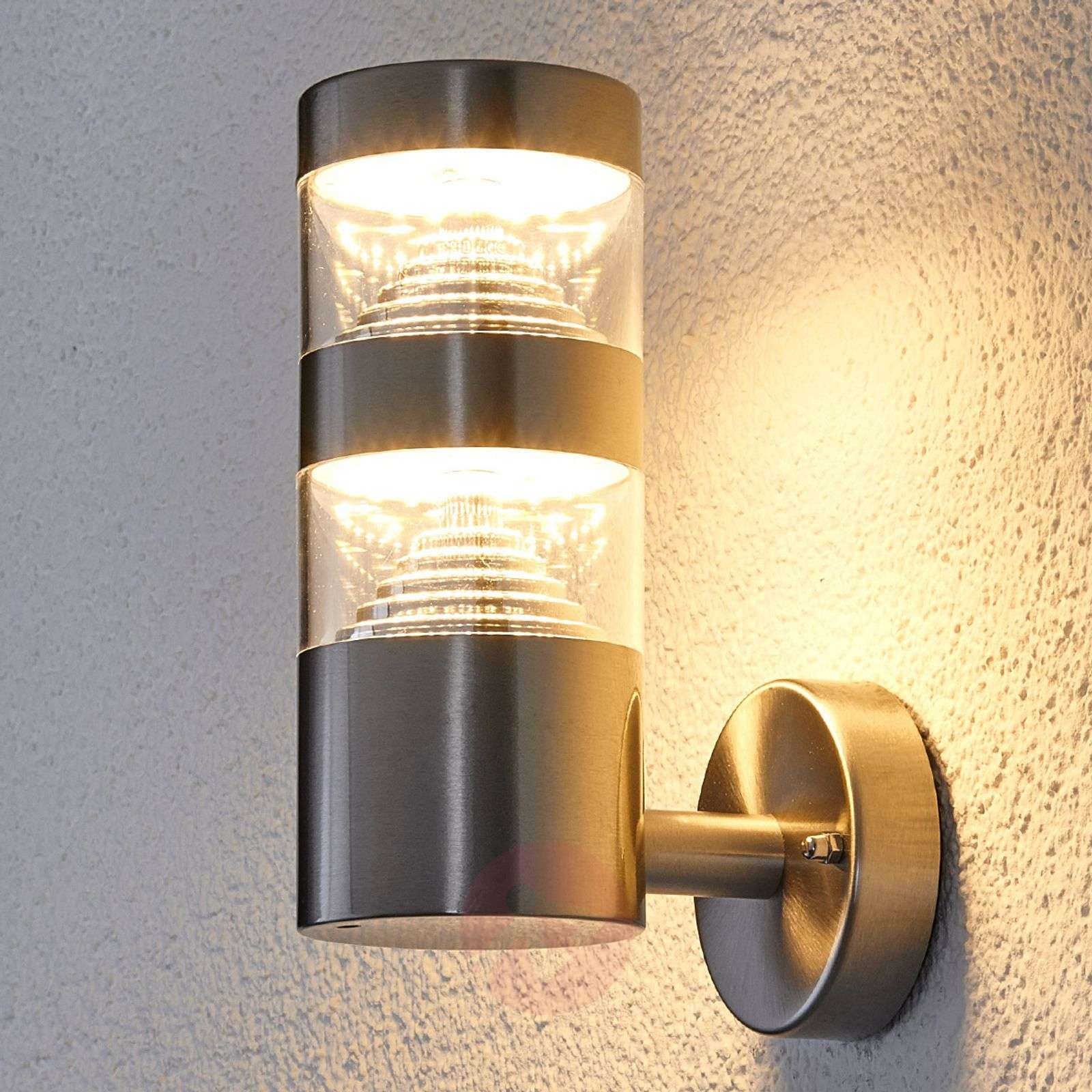 Outdoor wall lights lights stainless steel led outdoor wall light lanea aloadofball Image collections